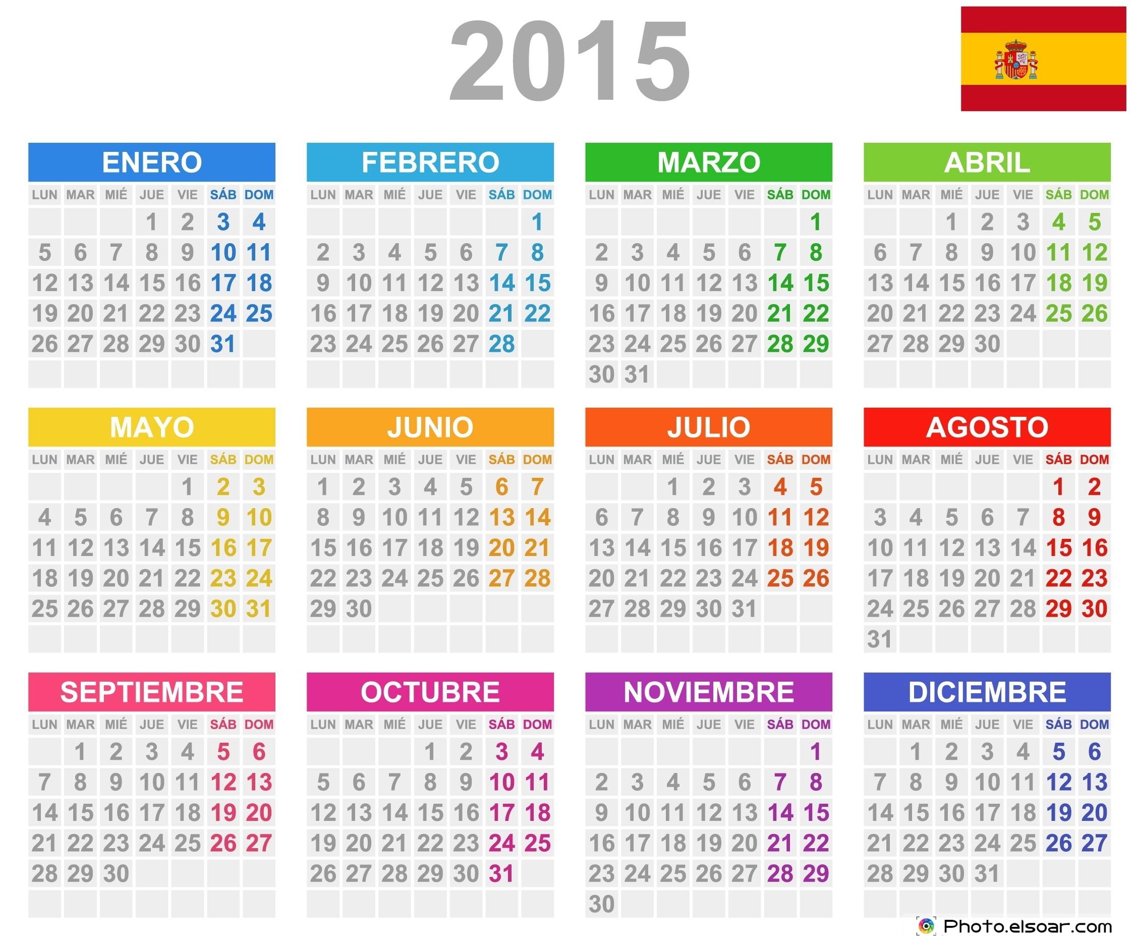 Plantilla Calendario 2015