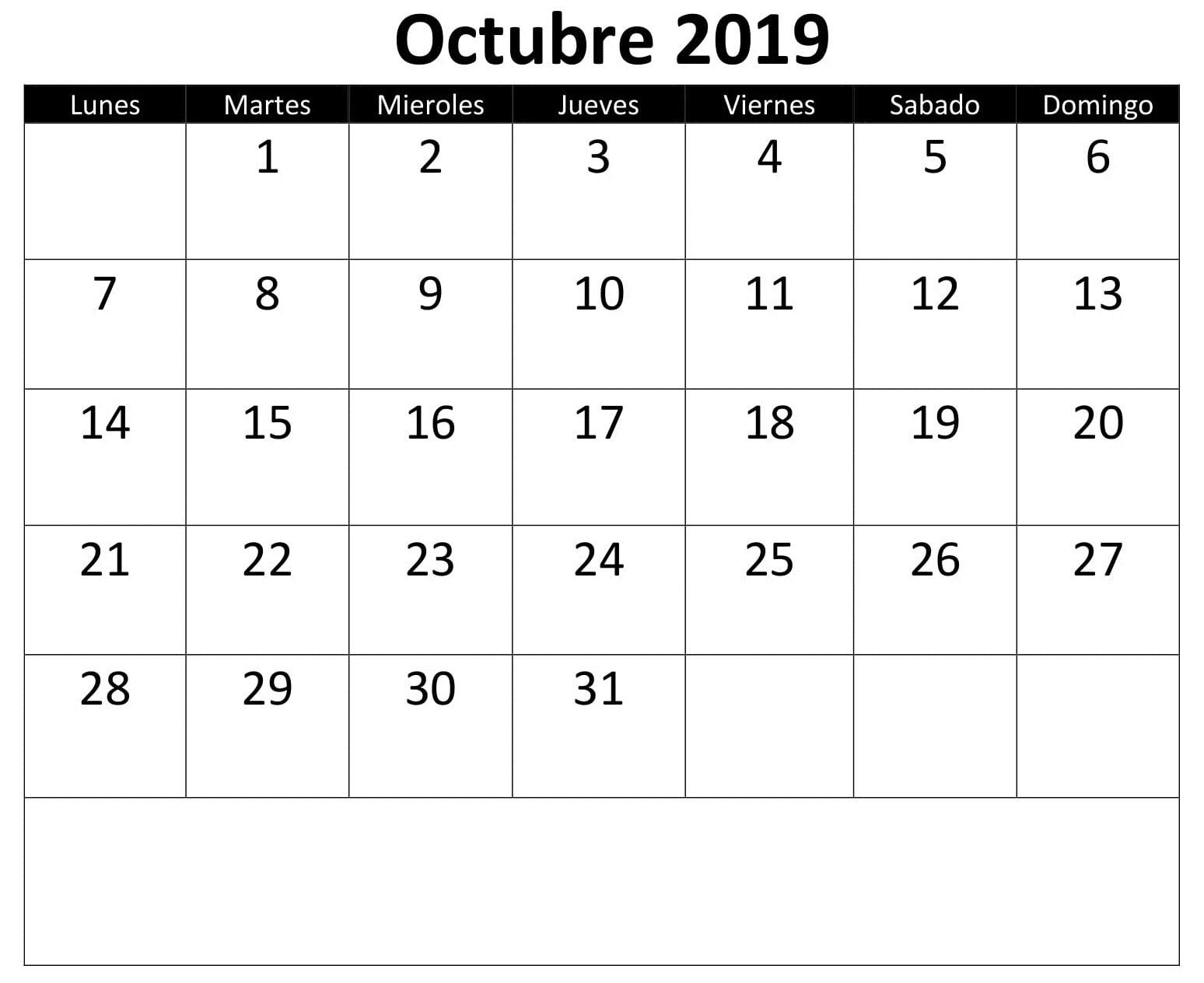 Calendario 2020 Colombia Con Festivos Word Más Recientes Calendario De Octubre 2019 Of Calendario 2020 Colombia Con Festivos Word Más Recientes October 2015 Calendar Fillable Printable Pdf
