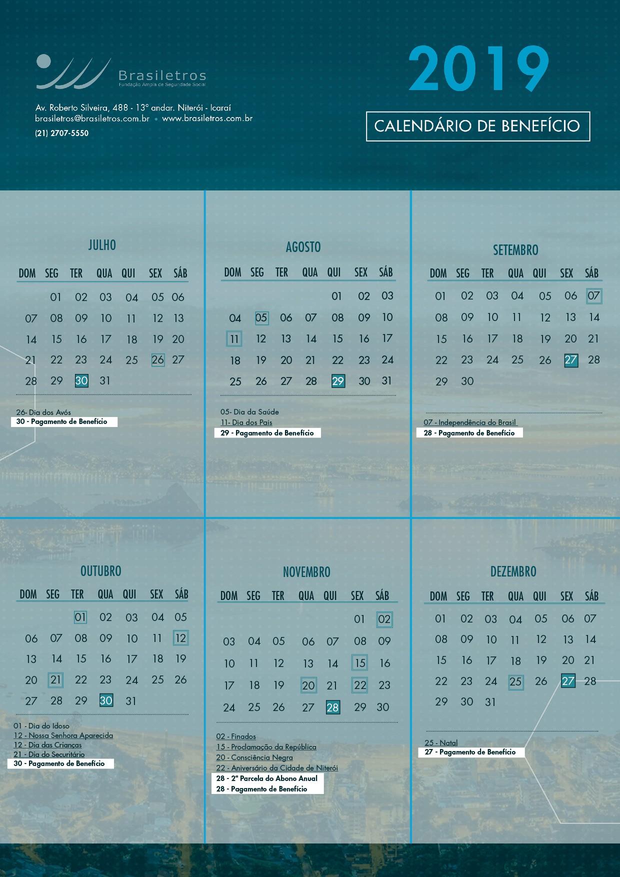 calendário de 2 min