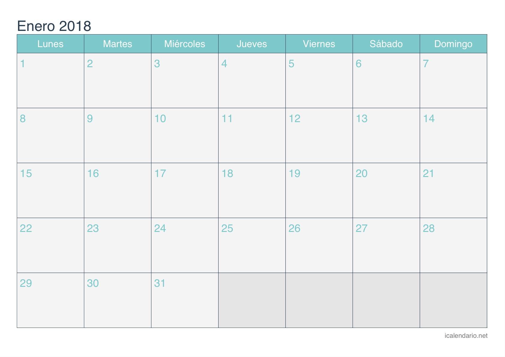 enero 2018 calendario 1