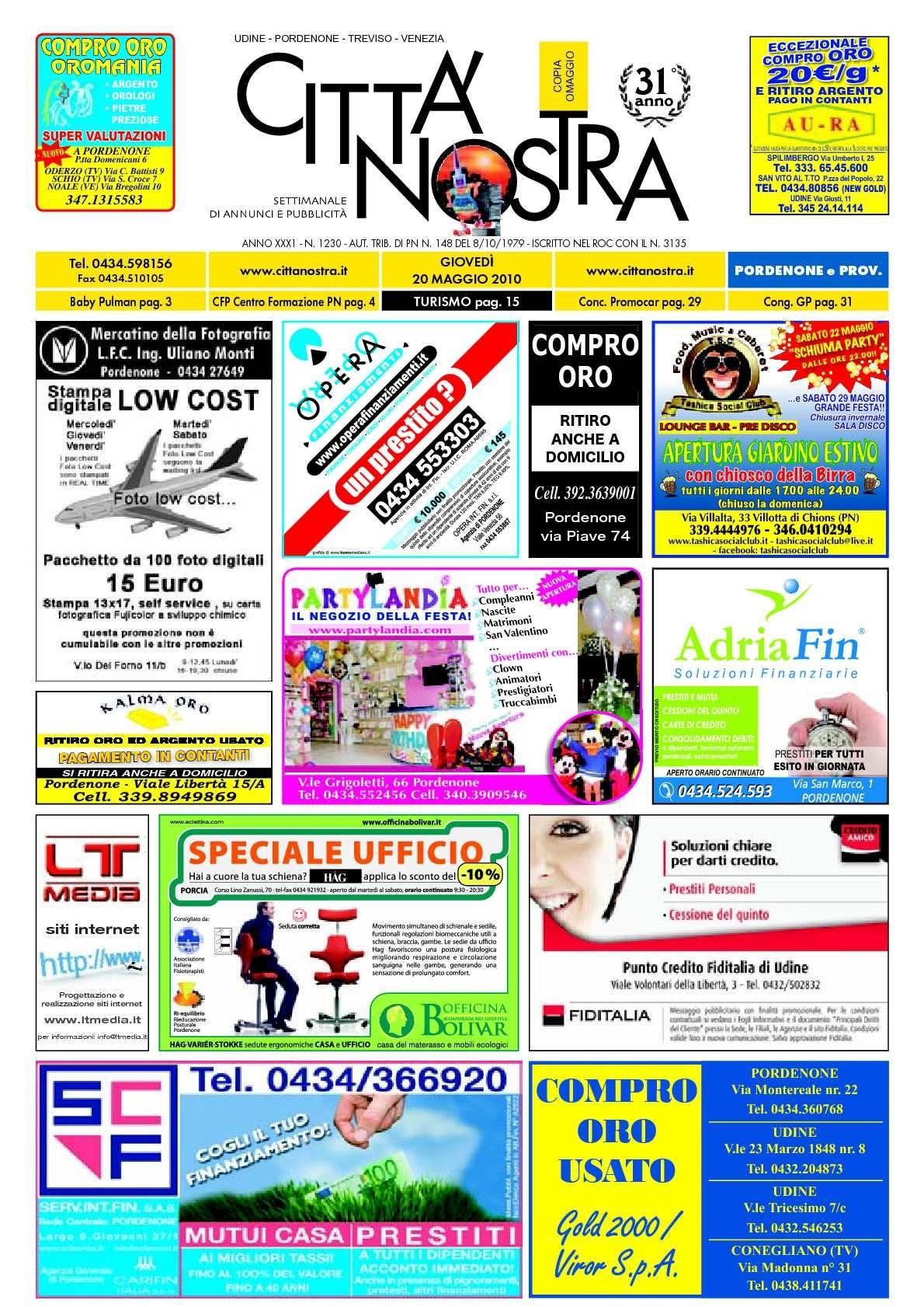 Calendario 2020 Gennaio Más Caliente Calaméo Citt Nostra Pordenone Del 20 05 2010 N 1230 Of Calendario 2020 Gennaio Más Actual Calendario 2019 Excel