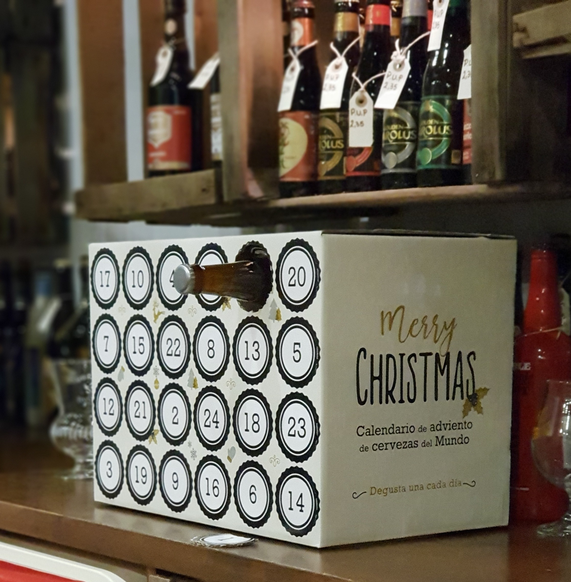 estuche calendario adviento para cervezassolo el carton