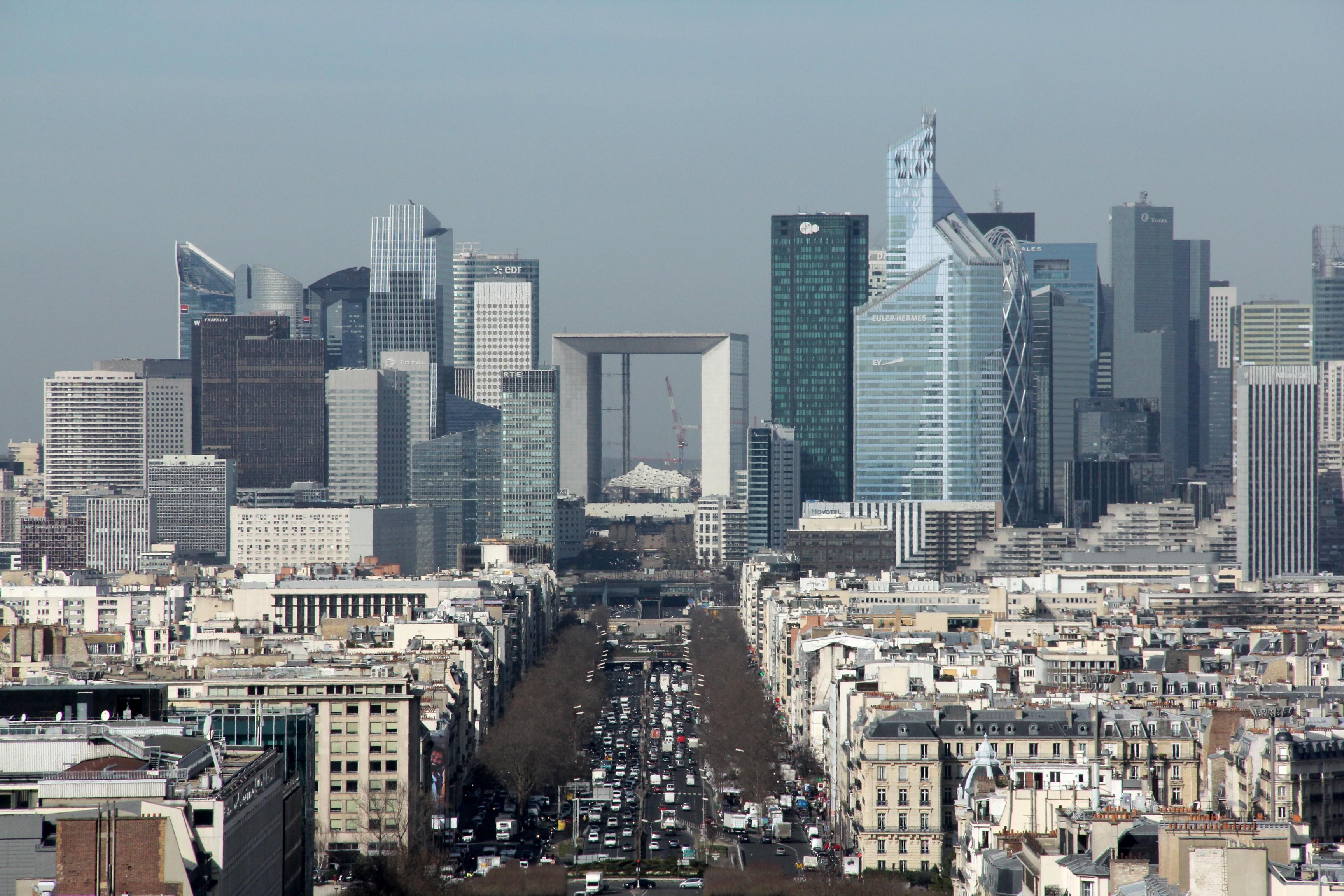 La Défense from the Arc de Triomphe Paris 6 March 2015 003