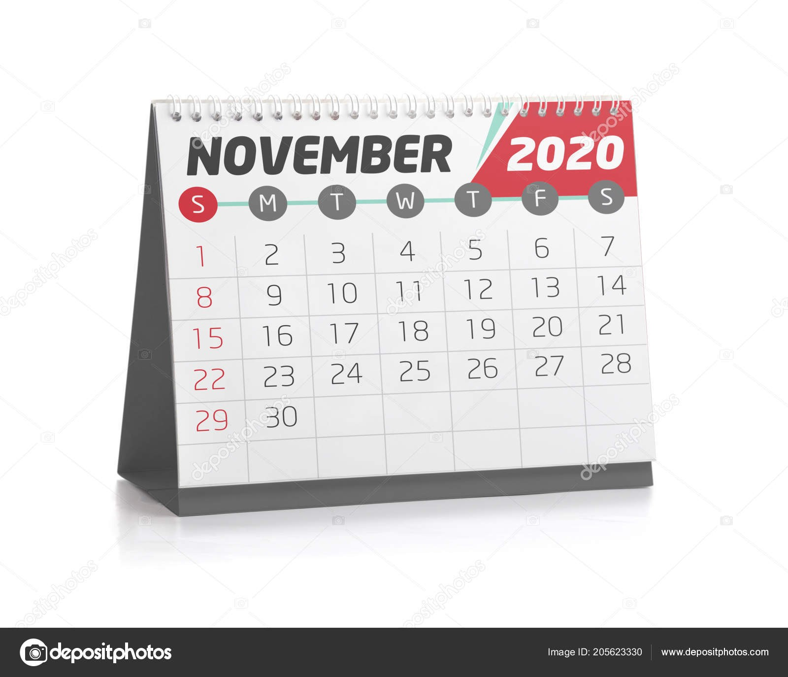 depositphotos stock photo november white office calendar 2020