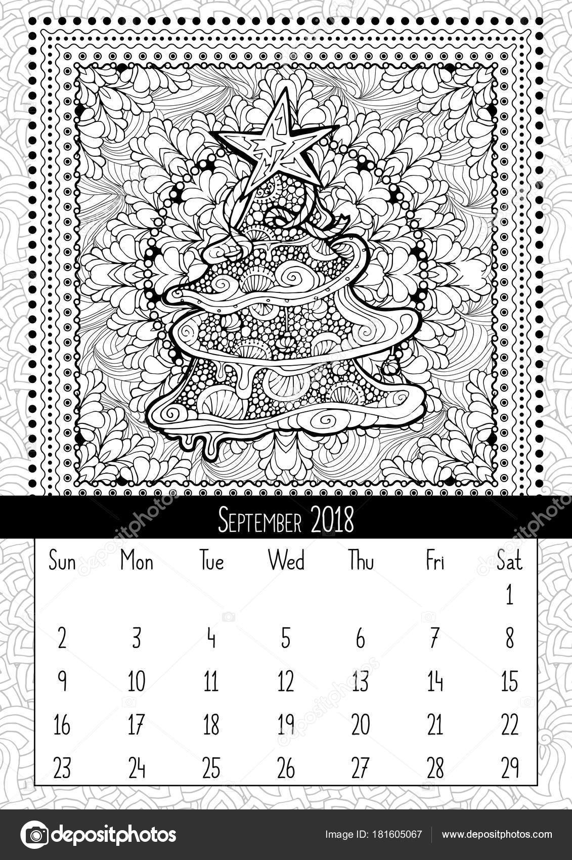 depositphotos stock illustration christmas tree doodle pattern calendar