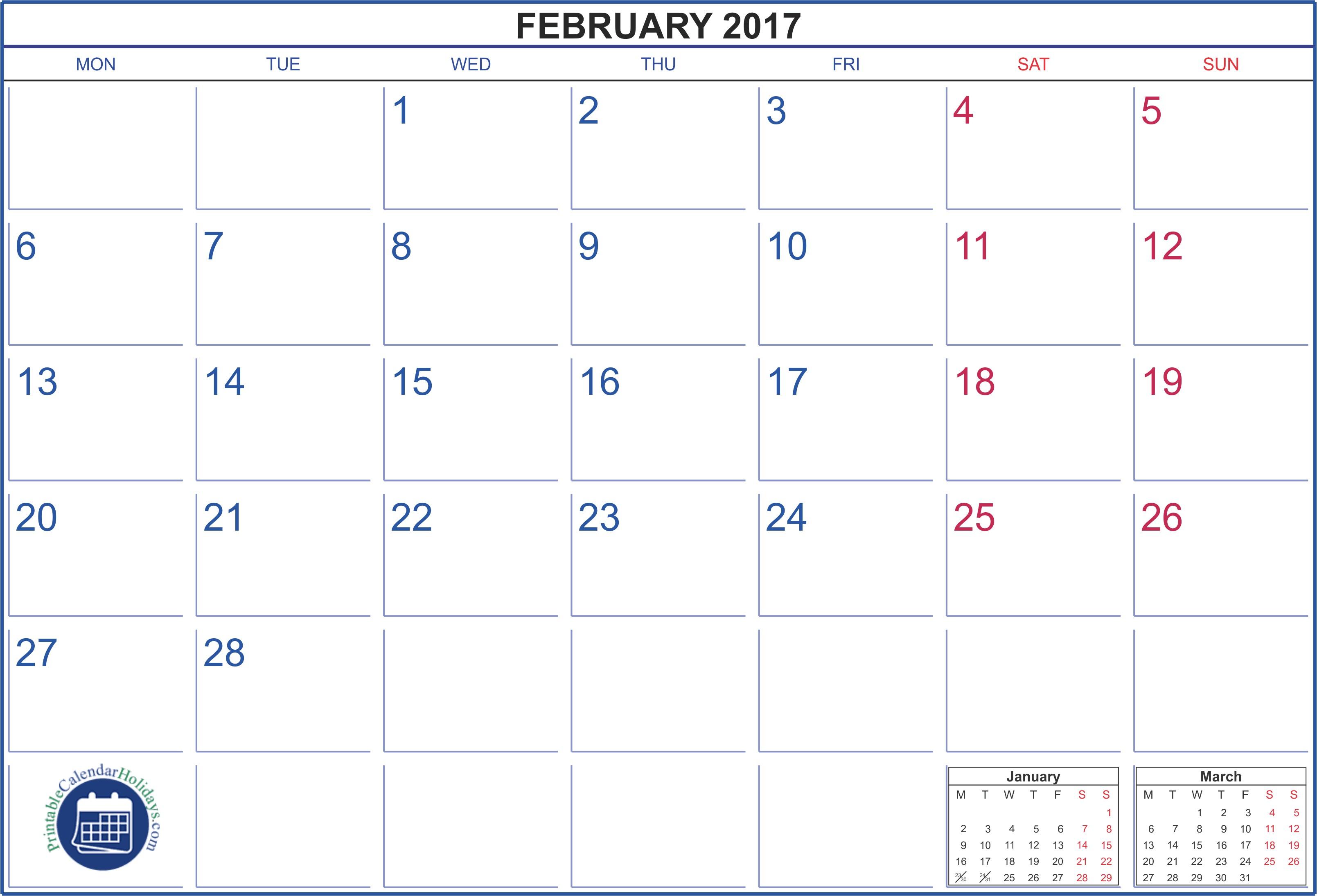 february 2017 template 1