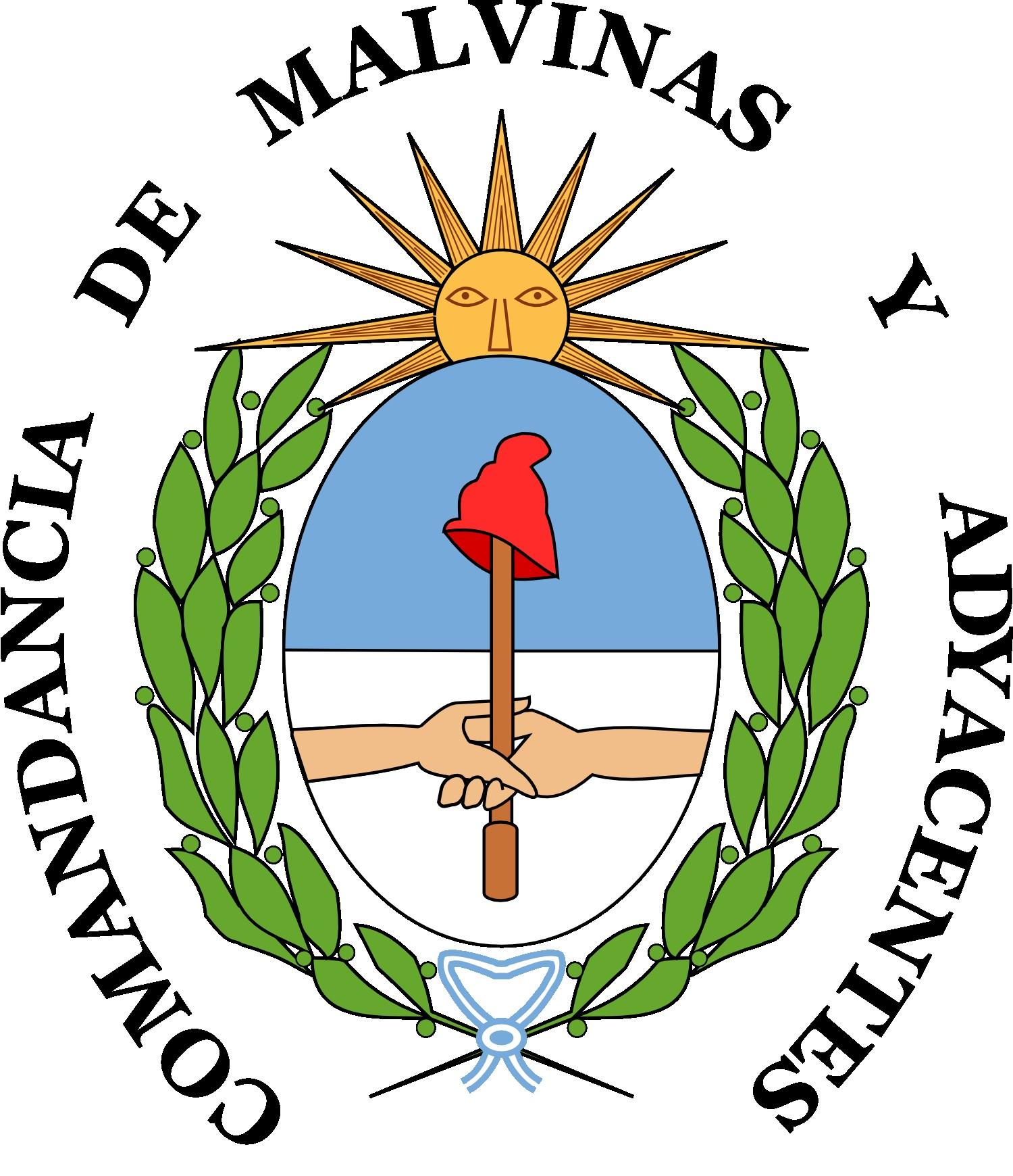 Escudo de la andancia de las Islas Malvinas
