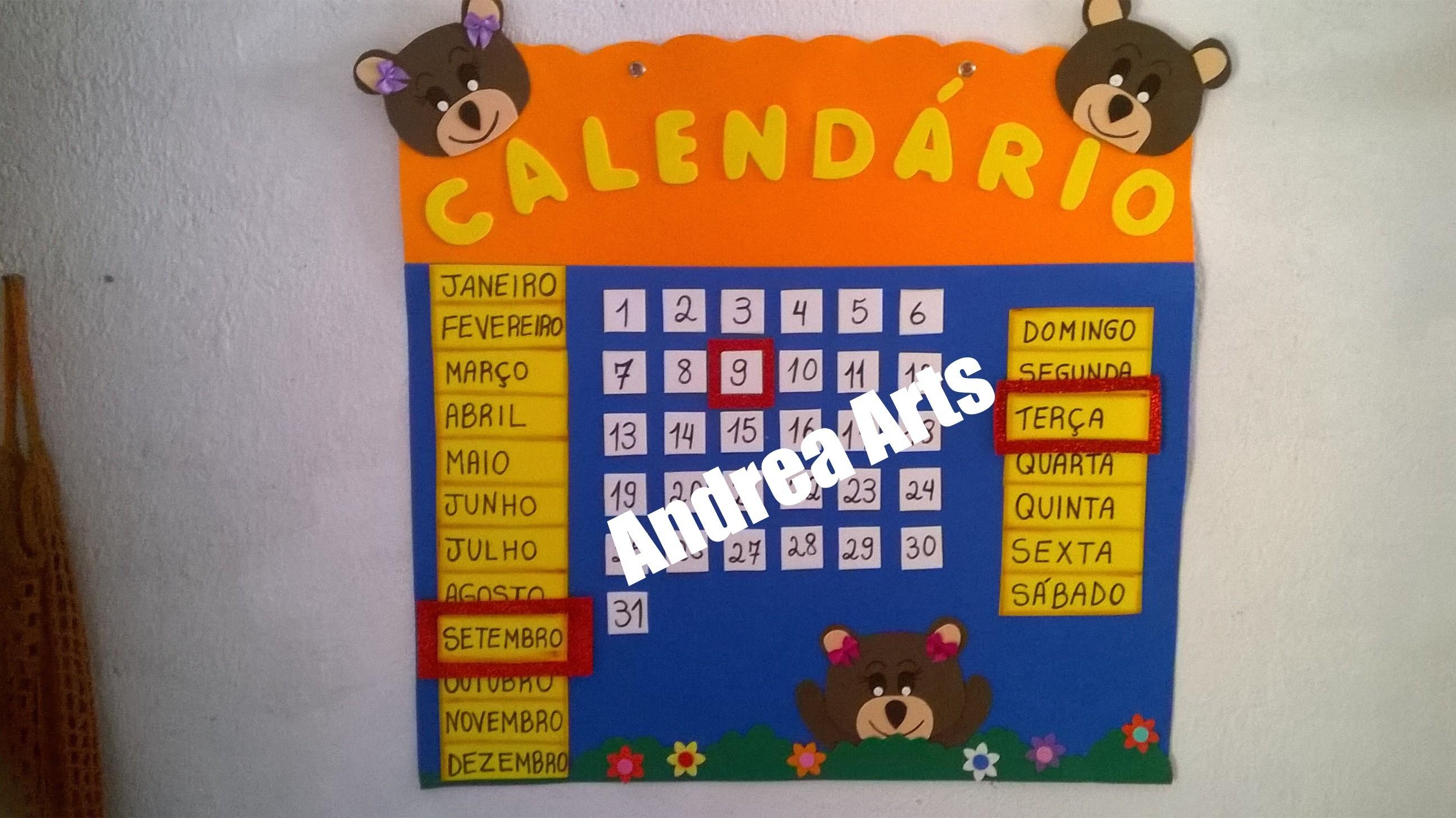 cartaz calendario sala de aula cartaz calendario