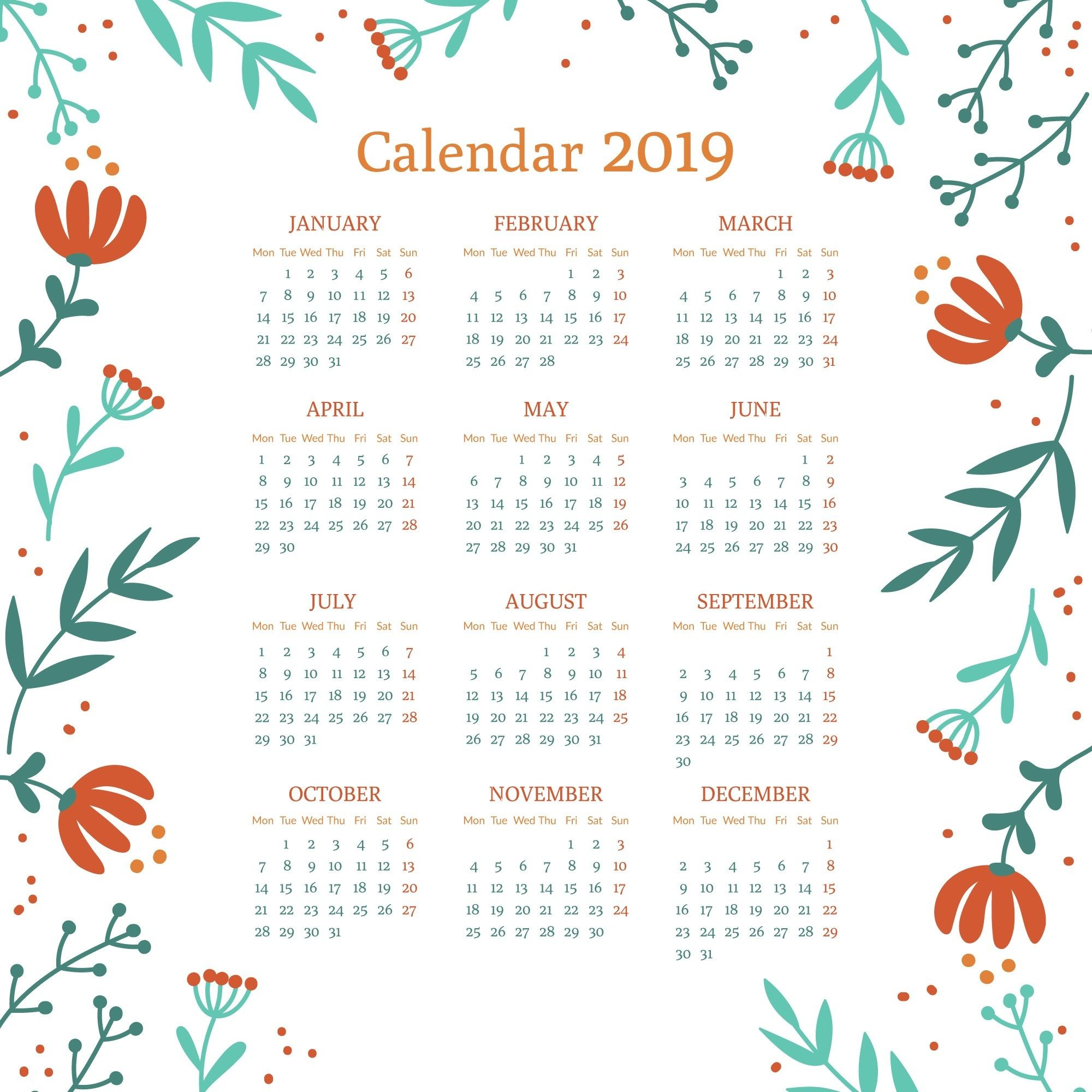 Calendario Anual Imprimir 2019 Más Populares Calendarios 2019 Gratis Para Imprimir ▷ 【pdf Word Excel Of Calendario Anual Imprimir 2019 Más Populares Planner 2020 Panda Menino Calendario Kedvencek