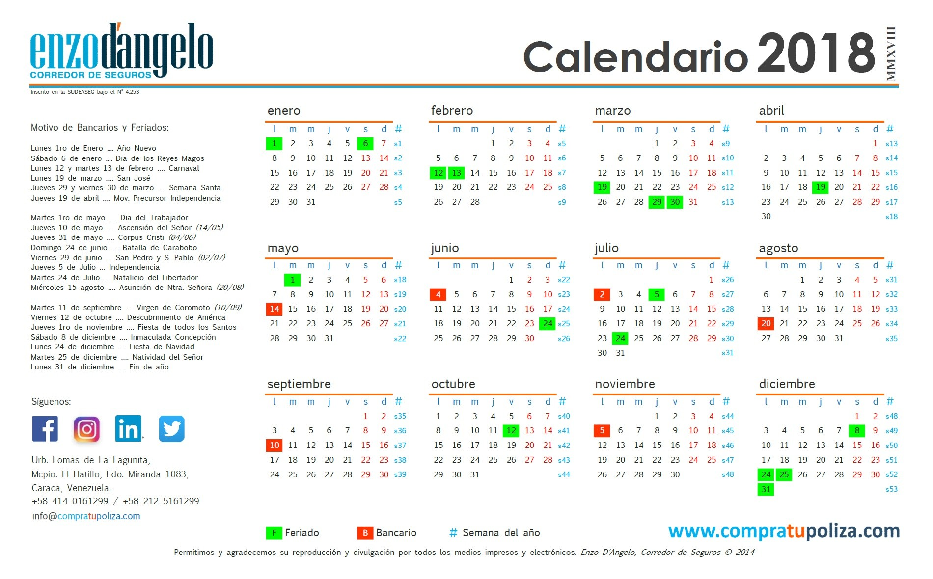 Calendario global 2018 v4