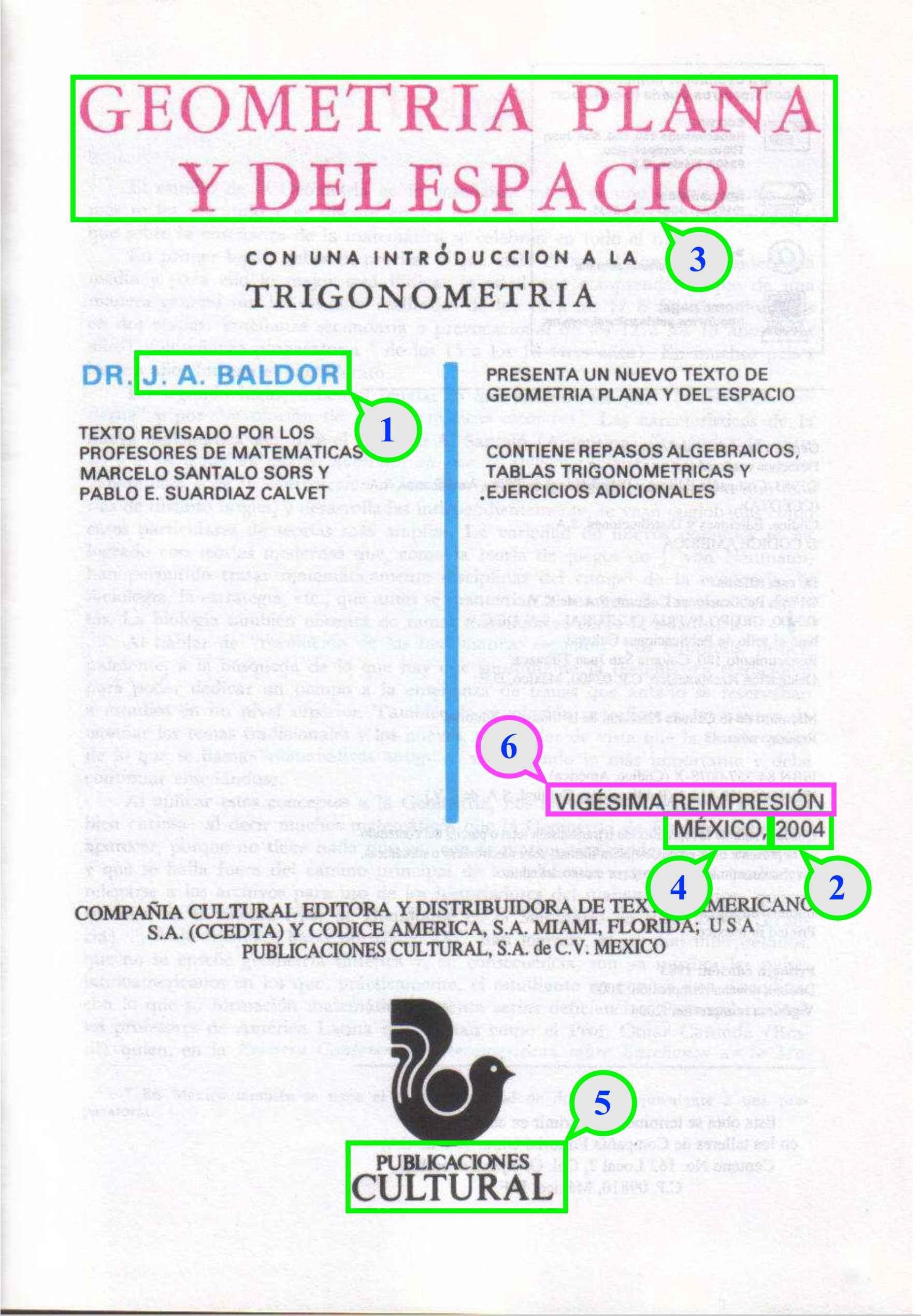 Baldor J A 2004 Geometria plana y del Espacio Tesis profesionales 3