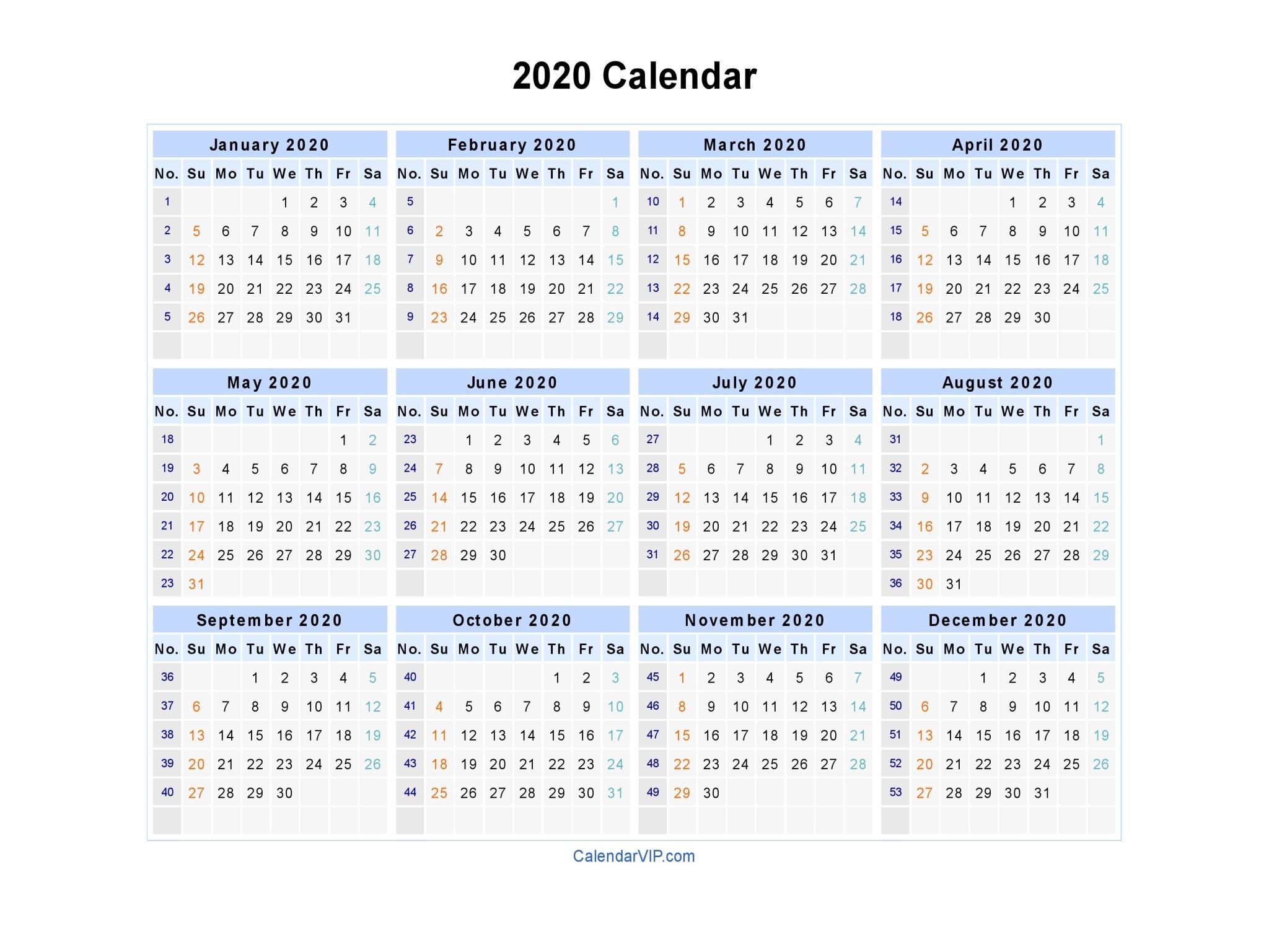 2020 календар 1