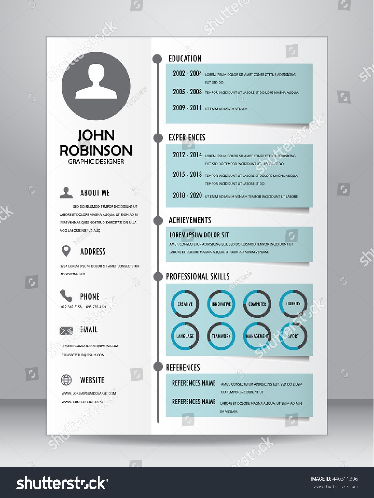 stock vector job resume or cv template layout template in a size vector illustration