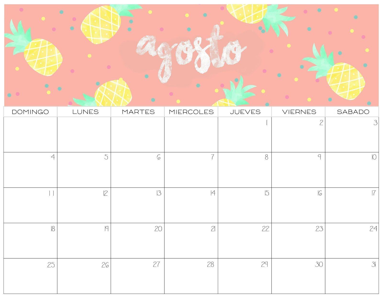Calendario Imprimir Julio Agosto 2019 Más Populares Calendario 2019 Colorido 2 Estilos Agendas