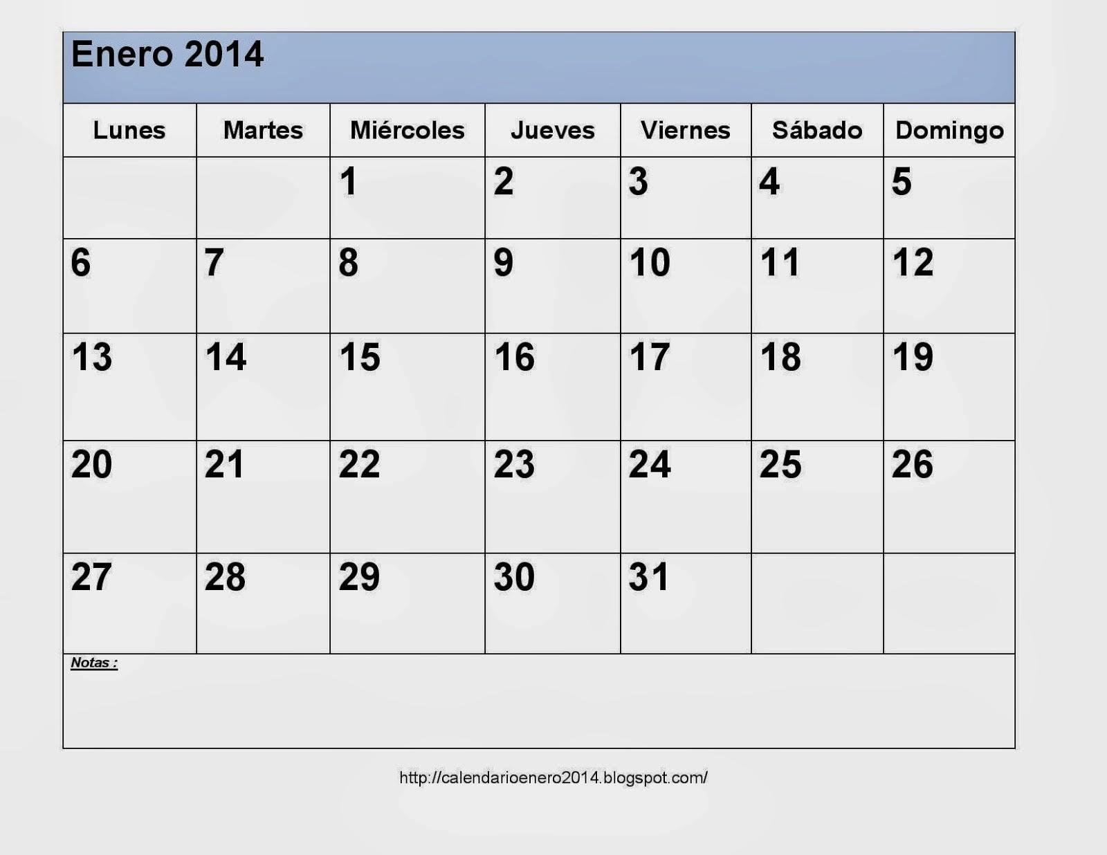 Calendarios 2014 blanco