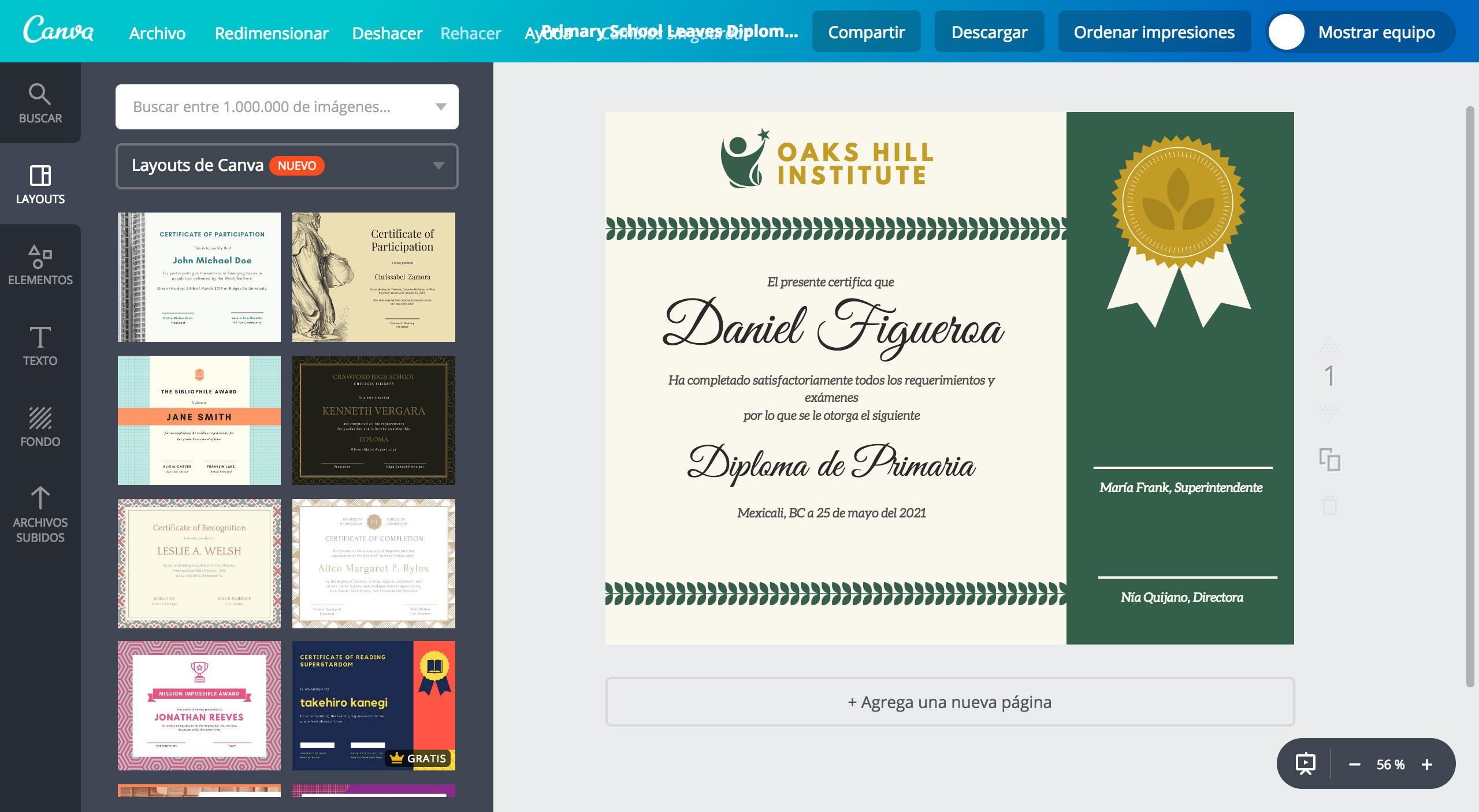 Diplomas primaria