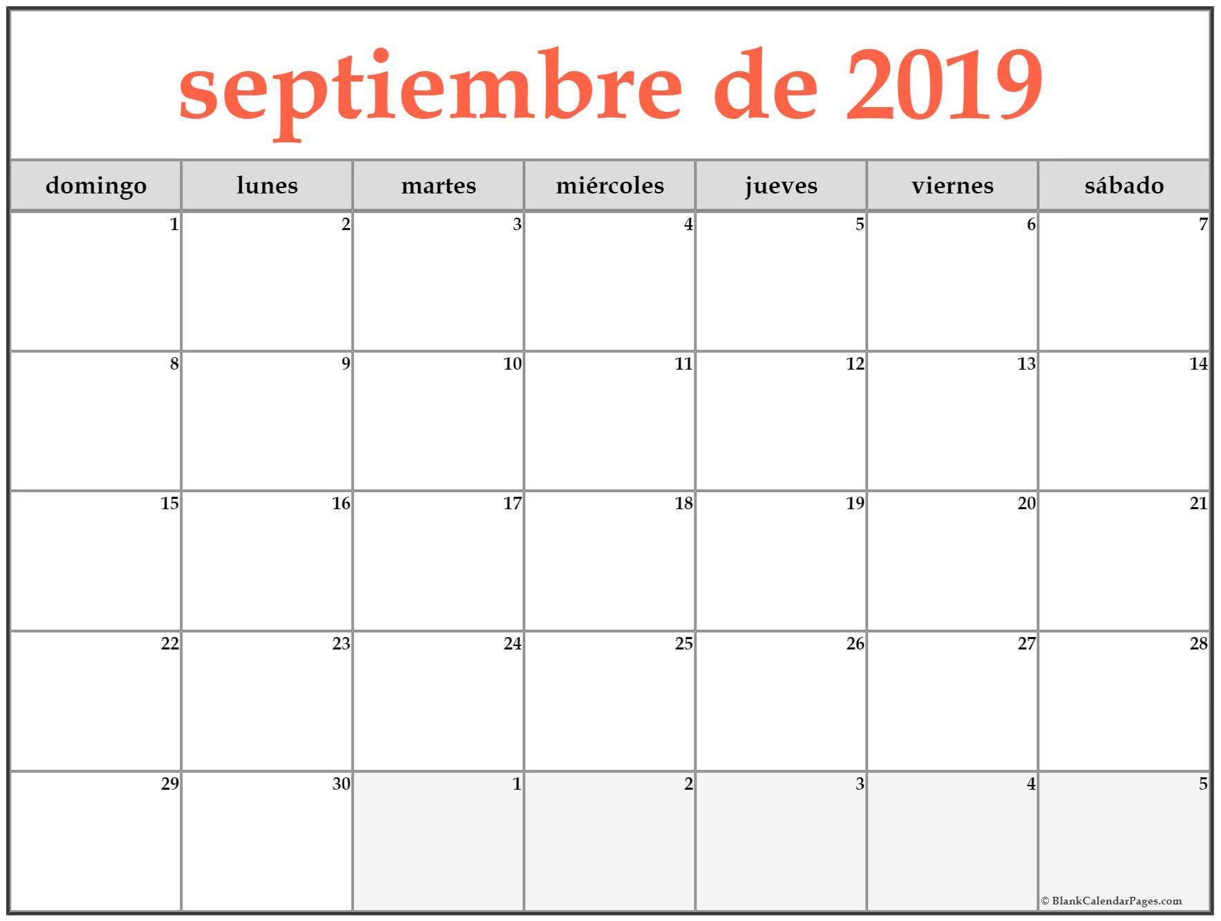 septiembre de 2019 calendario es4