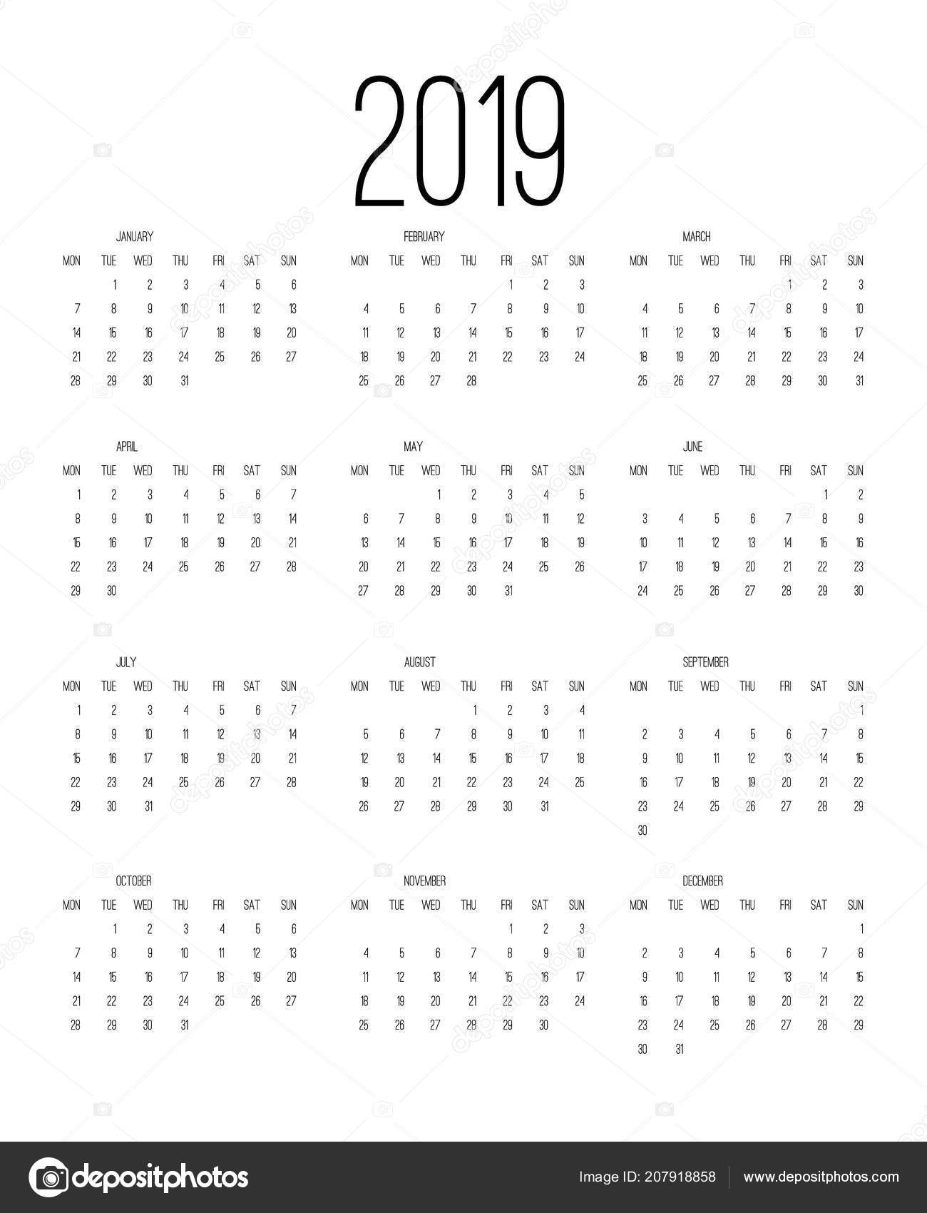 Calendario sobremesa Imprimir Más Caliente Calendario Festivos Colombia 2019 Takvim Kalender Hd