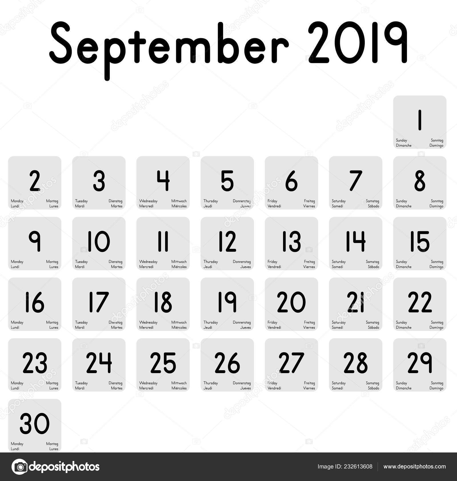 depositphotos stock illustration detailed daily calendar month september