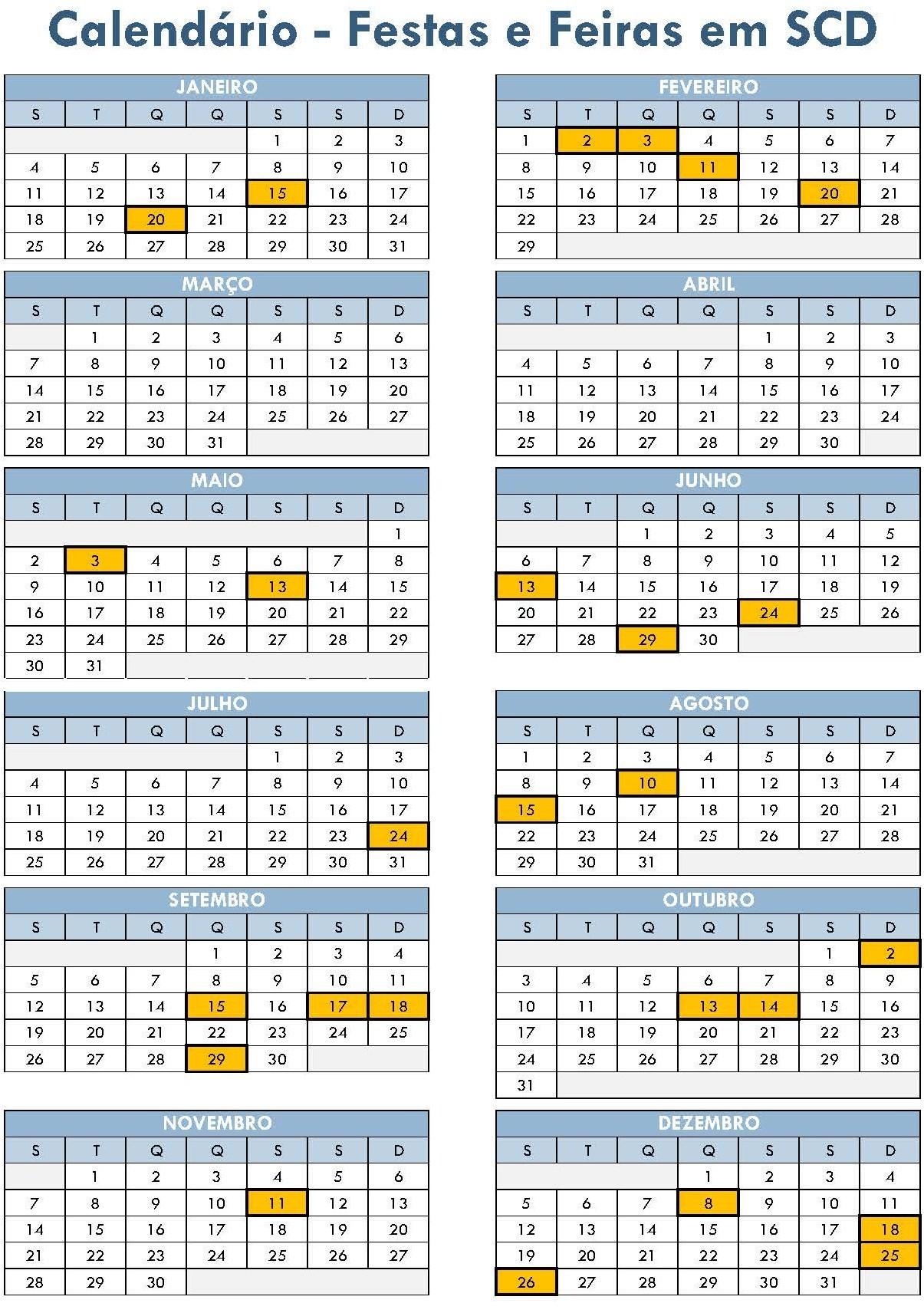 Calendário de Festas e Feiras em SCDão