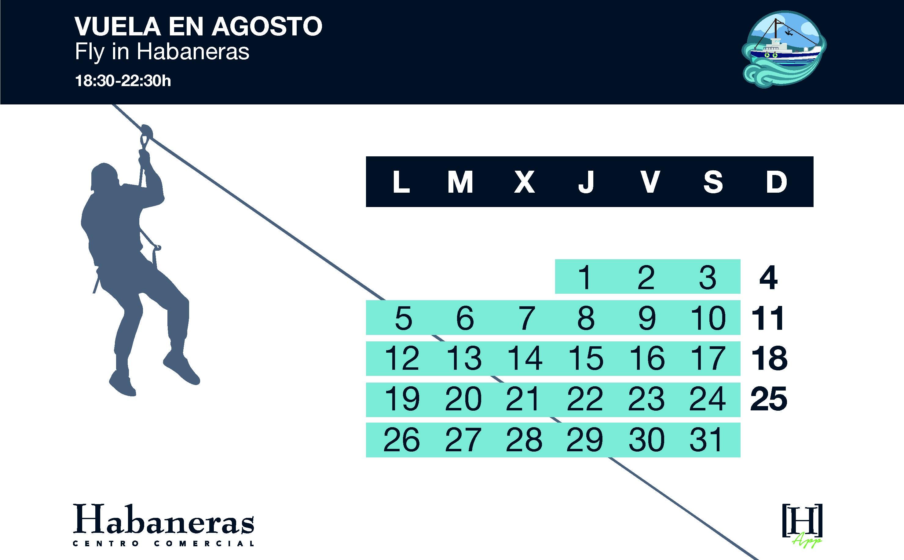 7084 Calendario Tirolina Agosto 710 x 440 Mesa de trabajo 1