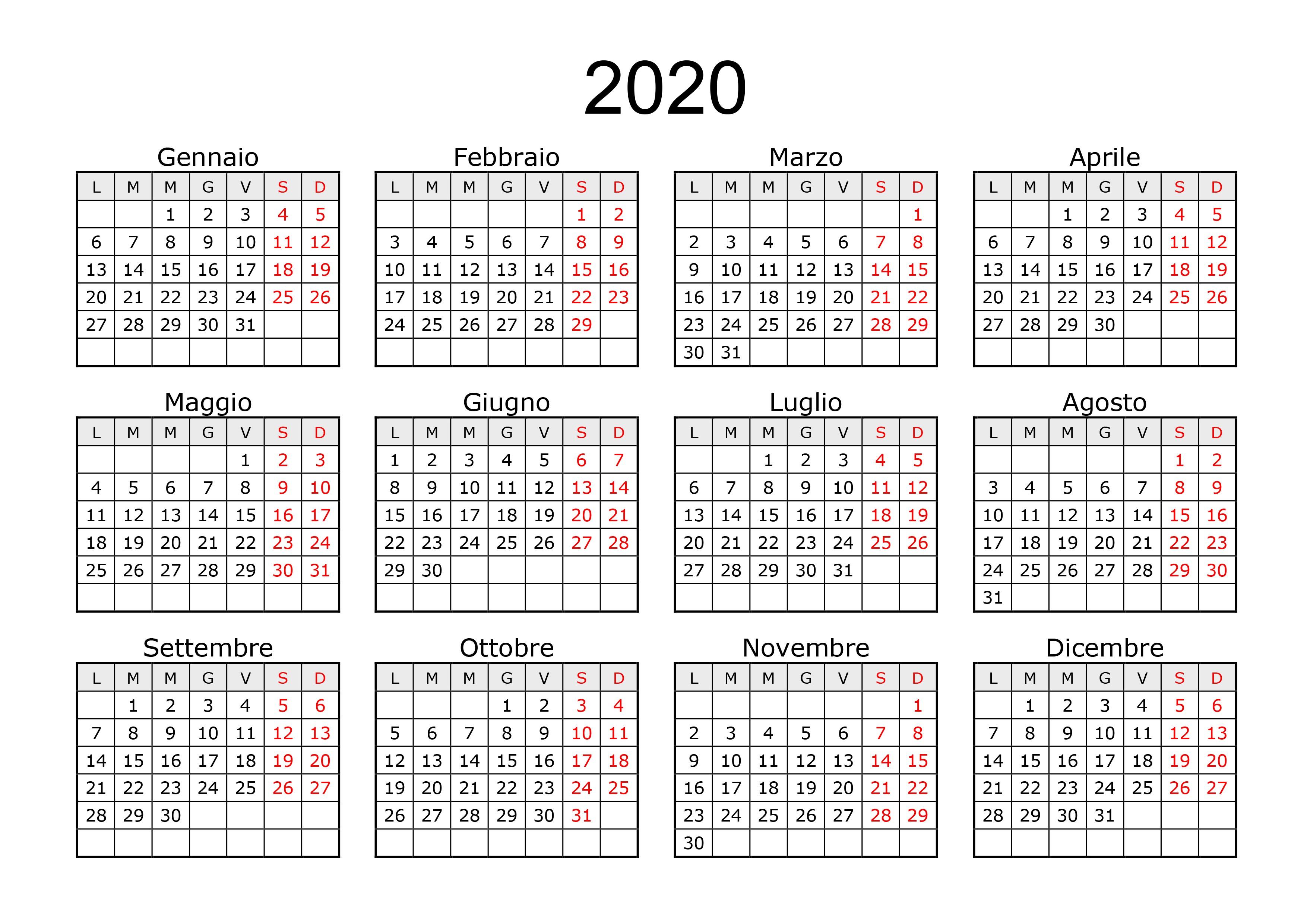 immagini calendario 2020 01