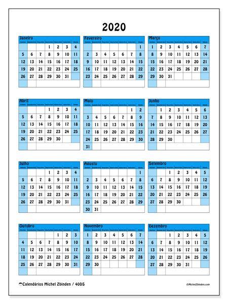 calendario 2020 semanas excel