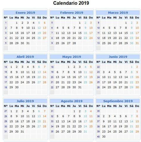 Calendario 2020 Con Numero De Semanas Para Imprimir Calendario 2019
