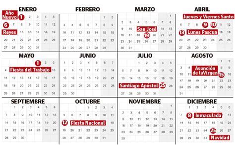 Calendario 2020 Con Festivos Y Semanas Calendario 2019