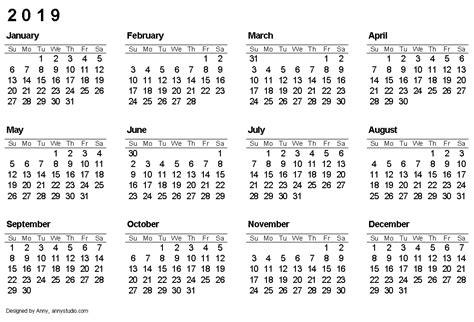 Calendar 2020 Pdf Romania Calendario 2019