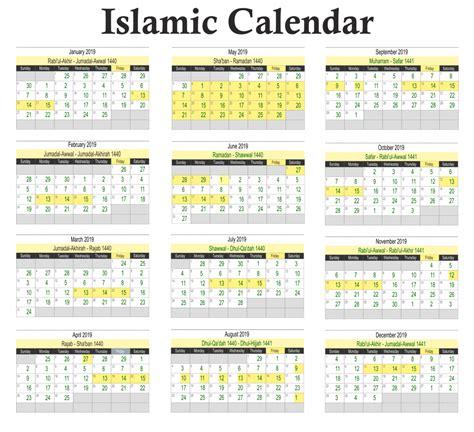 Islamic Calendar 2022 Usa.Islamic Calendar 2020 Pdf Calendario 2019