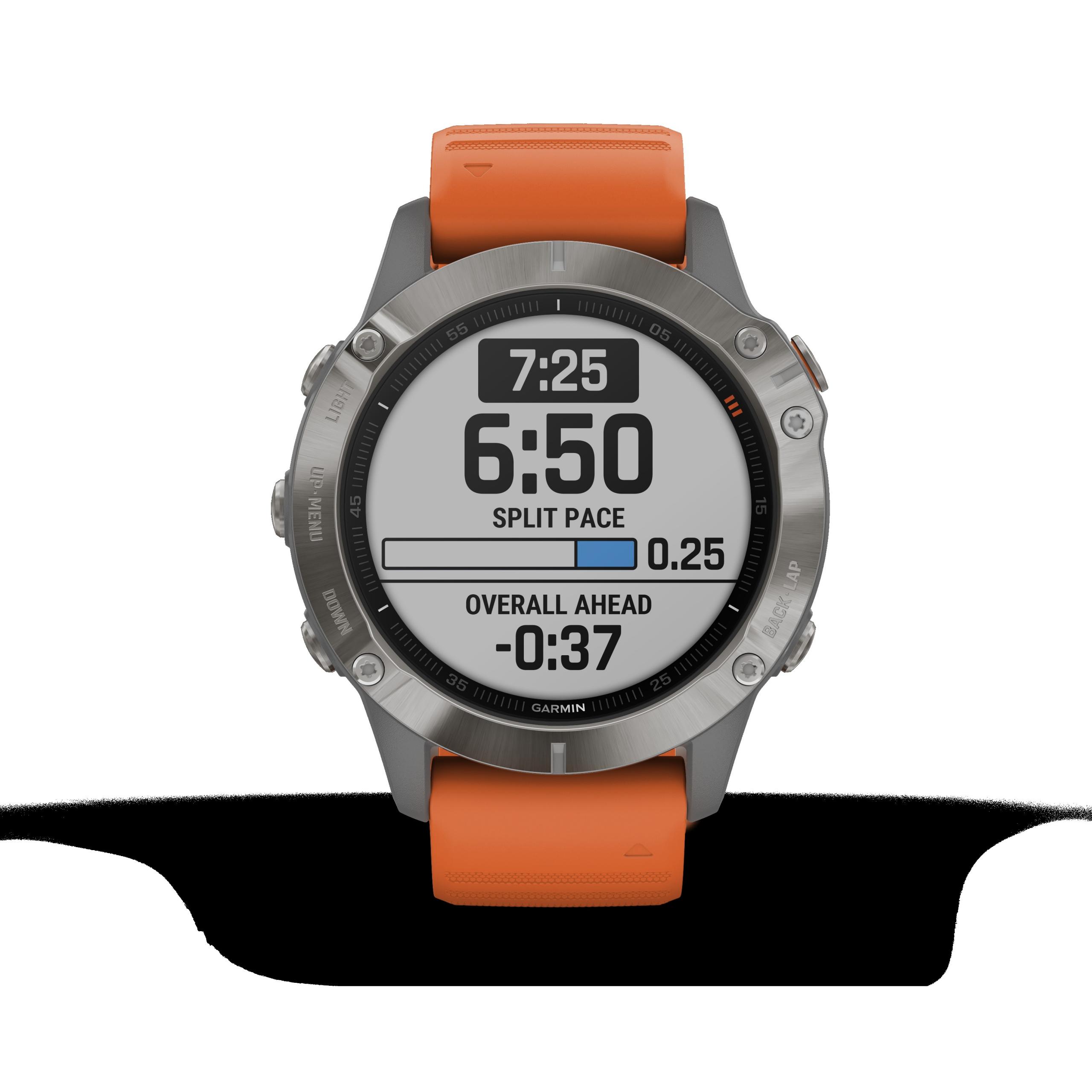 GARMIN Fenix 6 Sapphire Titan Smartwatch 32