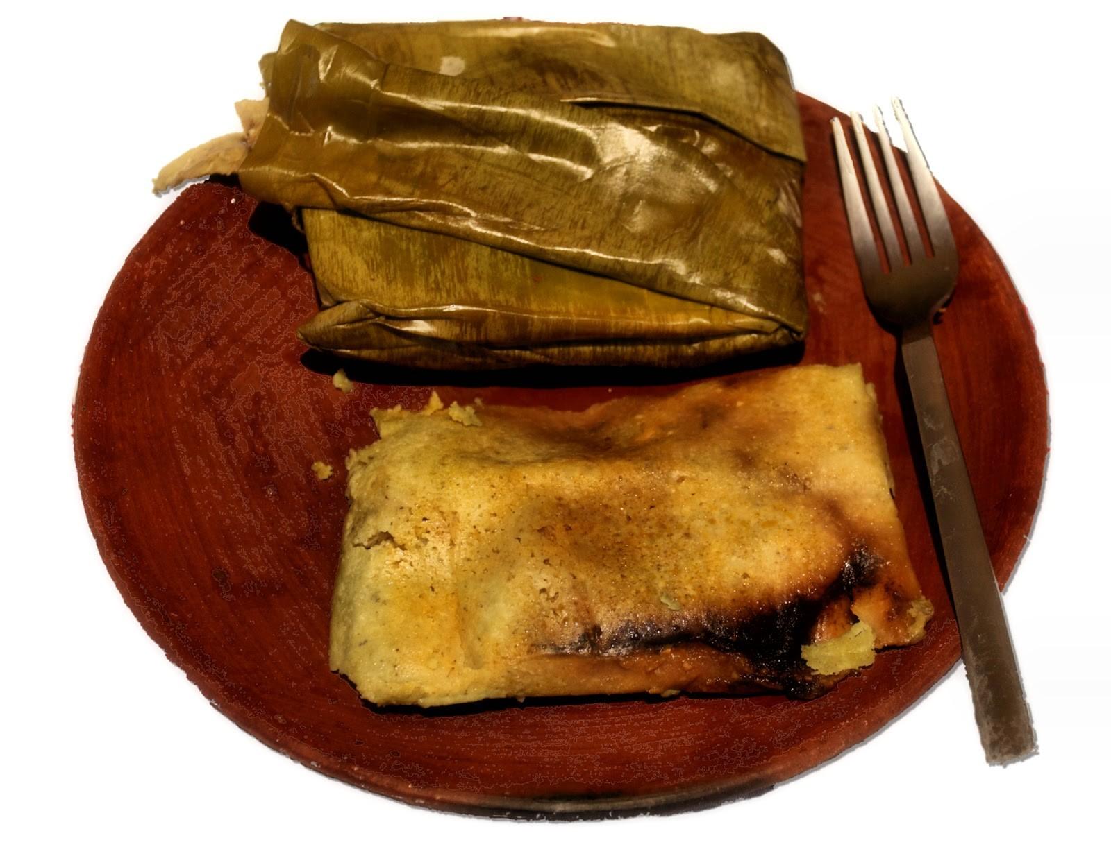 Tamale prato natalino mexicano