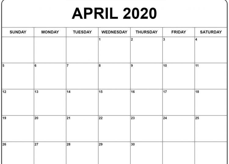 Calendario 2020 En Word Más Recientes Worksheets Printable Calendar April
