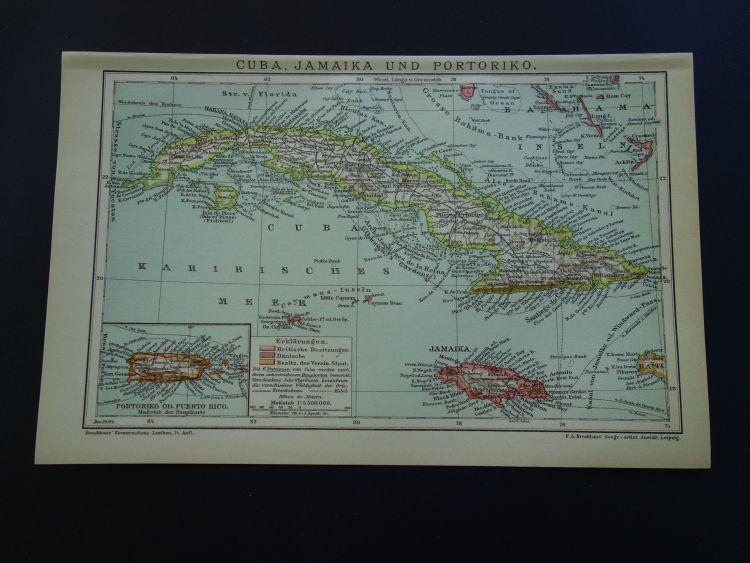 """Calendario 2020 Guatemala Con Dias Festivos Más Recientemente Liberado Cuba Antiguo Mapa De Cuba Y Jamaica 1904 original Impresi³n Antigua Havana Kingston Peque±os Mapas Vintage Detallados 6x10"""" Con Fecha Del A±o"""