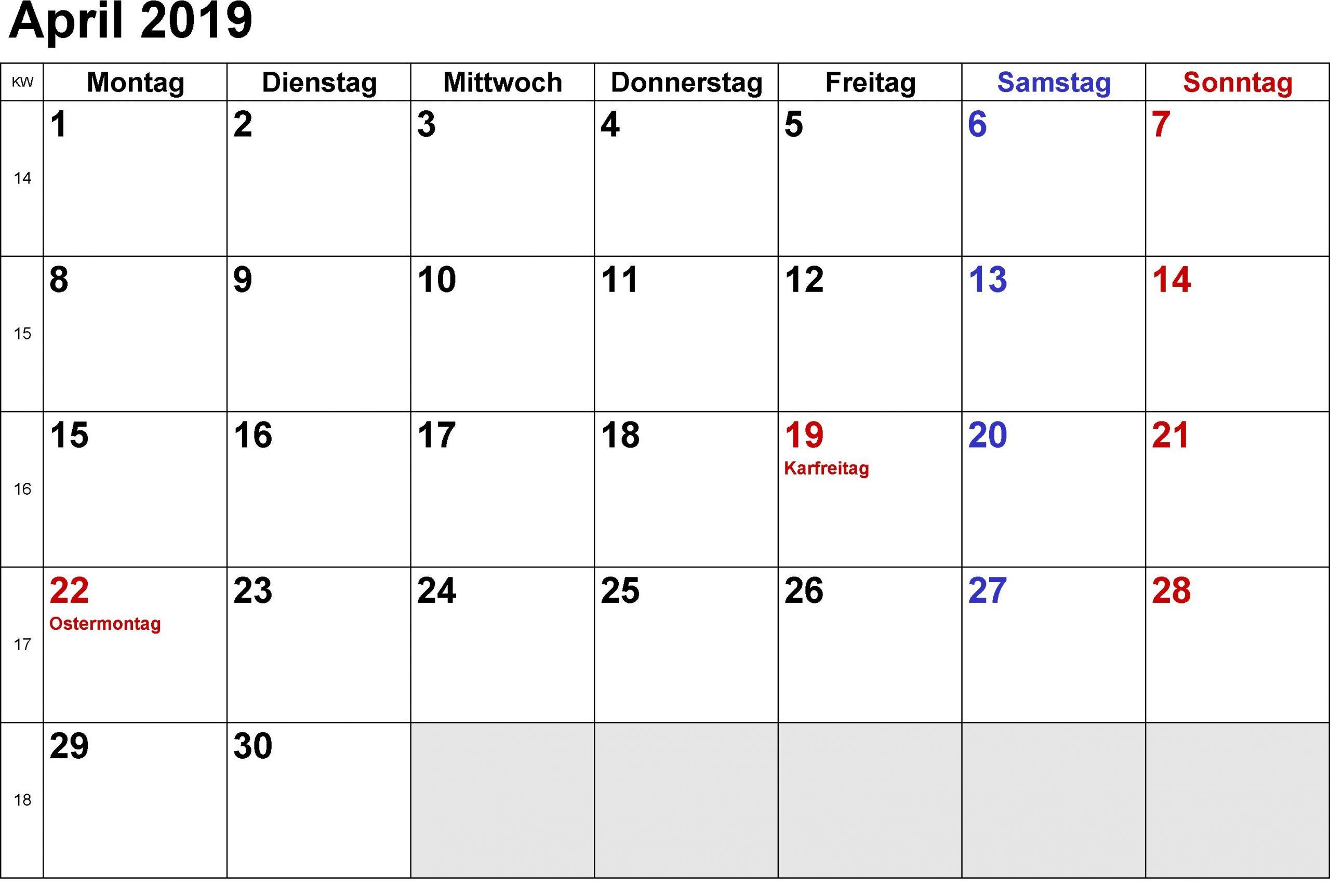 kalender 2019 excel erstellen mas actual april steht im kalender of kalender 2019 excel erstellen