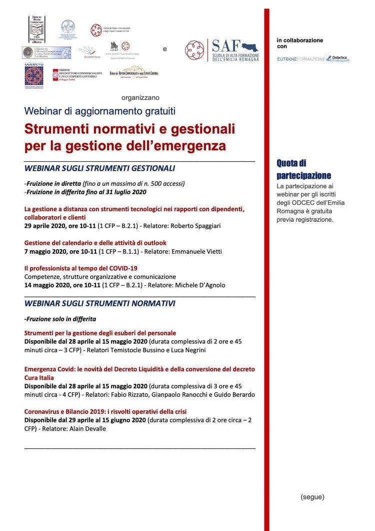 Calendario 2020 Jpg Mejores Y Más Novedosos Scuola Di Alta formazione Dell Emilia Romanga
