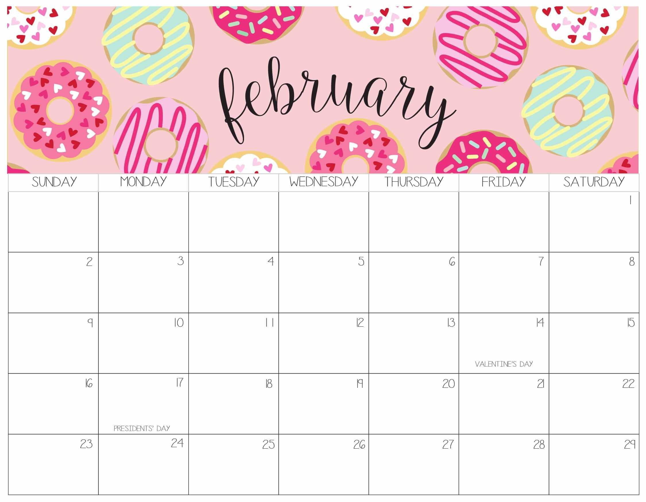 Calendar February 2020 Excel