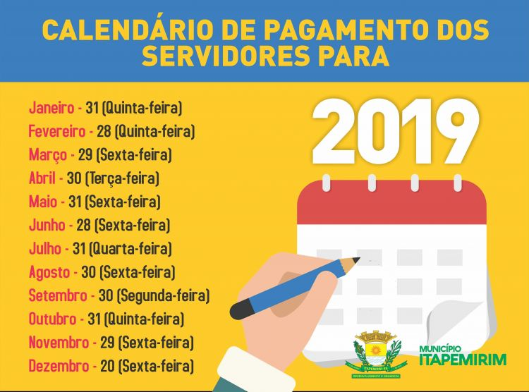 Calendário 2020 Rio De Janeiro Com Feriados Actual Dcd07c419 Governo Do Es Divulga Calend£ Rio De Pagamento Dos