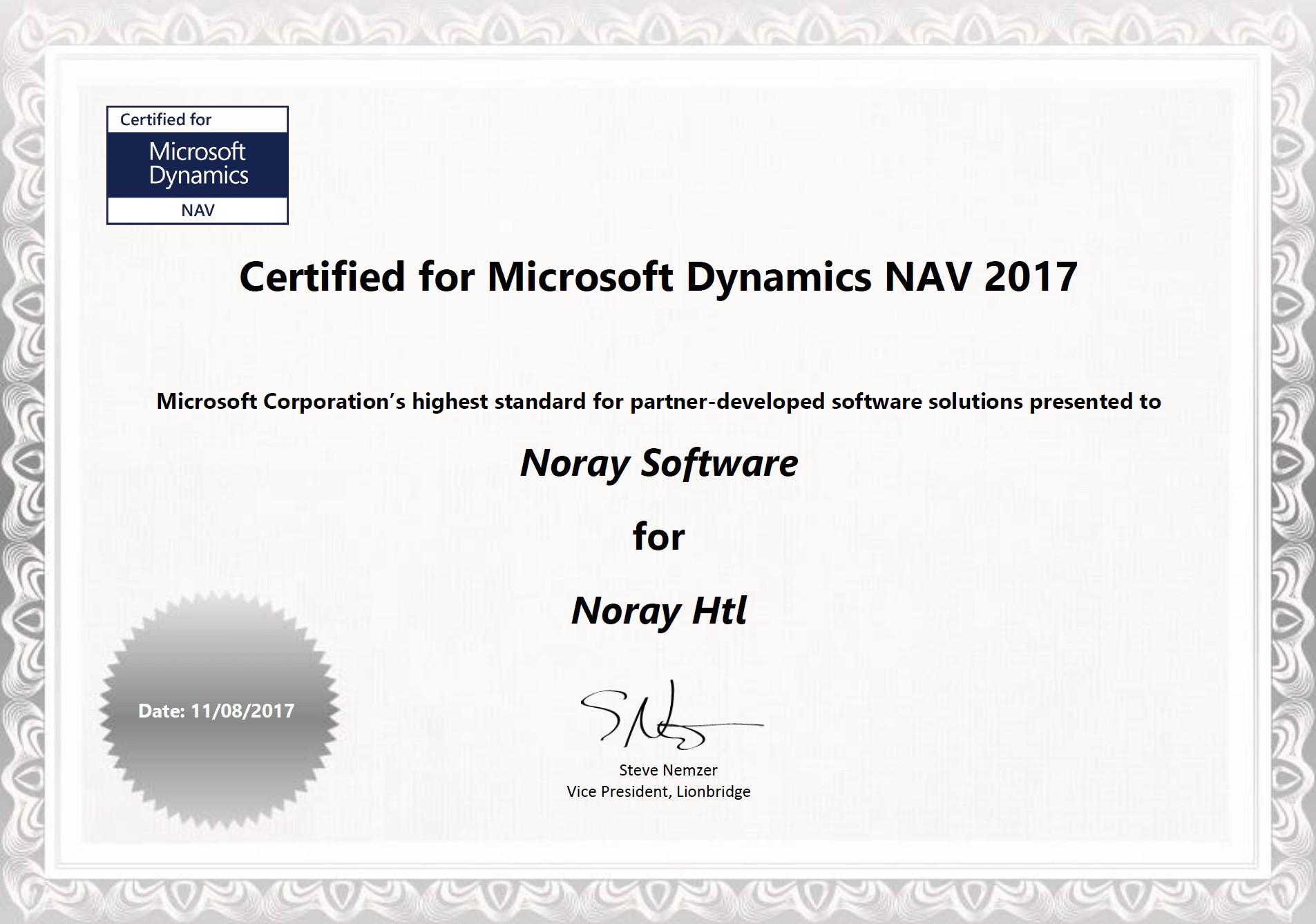 noray obtiene cfmd de microsoft dynamics nav 2017