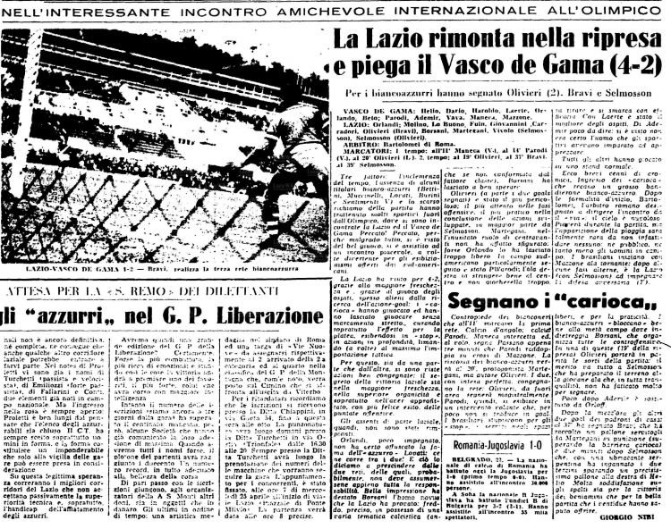 Calendario 2020 Stampabile Más Actual Domenica 22 Aprile 1956 Roma Stadio Olimpico Lazio