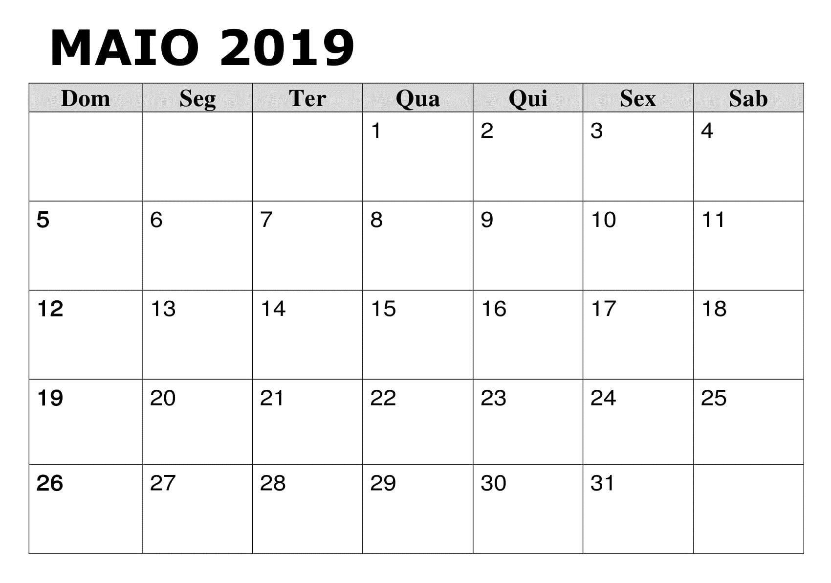 calendario de feriados 2019 para imprimir mas caliente 2019 calendario maio pdf escola of calendario de feriados 2019 para imprimir