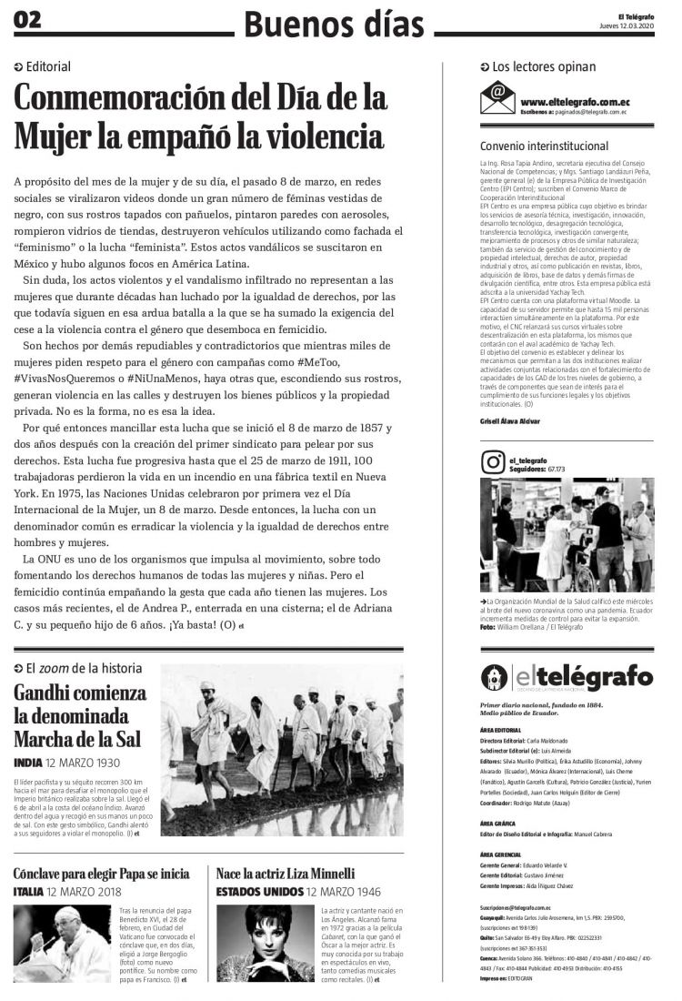 Calendario Colombia Septiembre De 2020 Mejores Y Más Novedosos El Telégrafo 12 De Marzo De 2020 Pages 1 24 Text Version