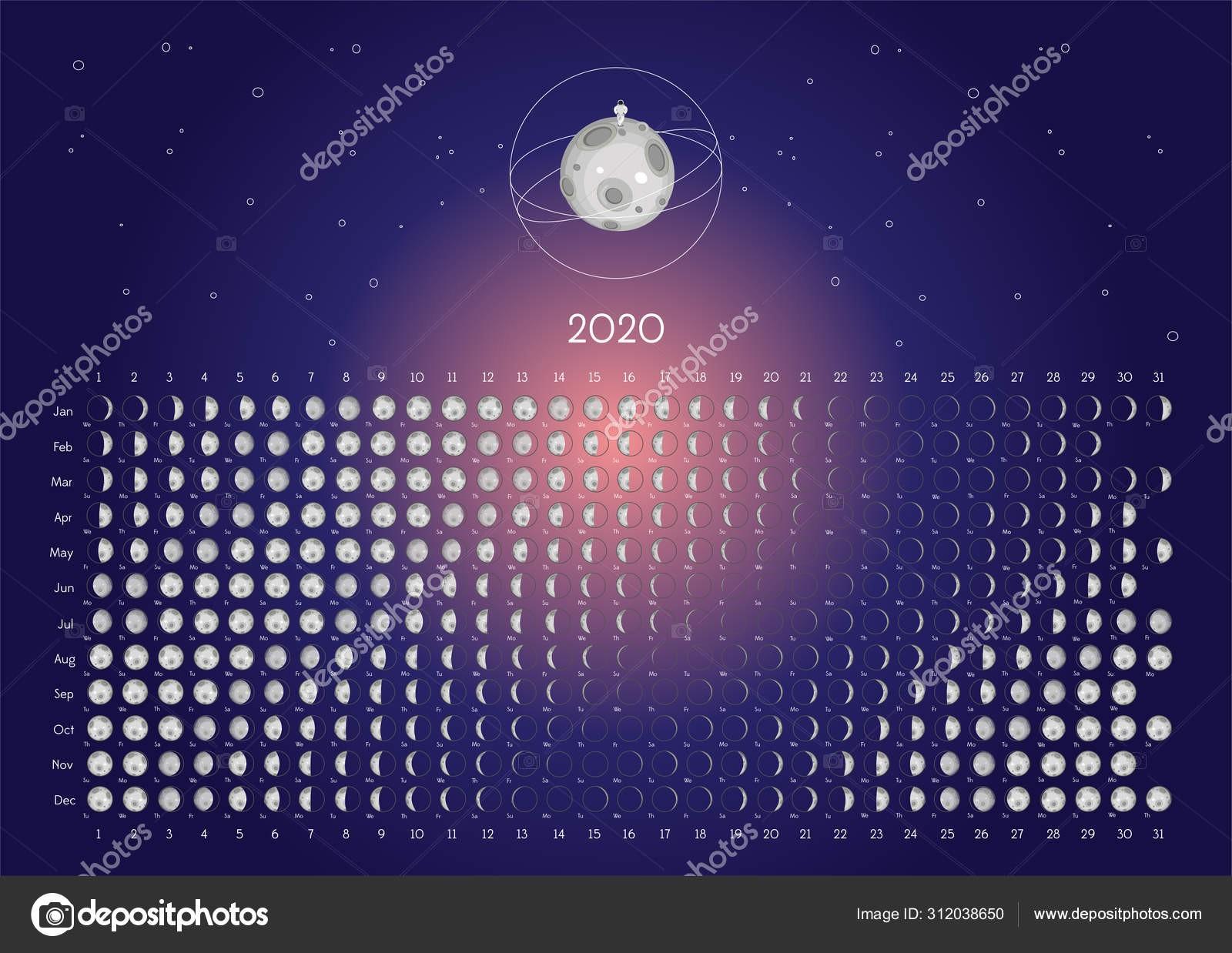 depositphotos stock illustration moon calendar 2020 northern hemisphere