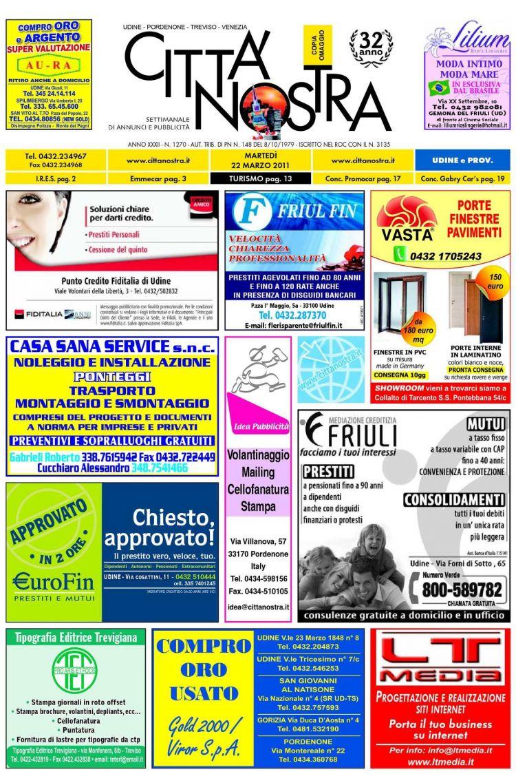 Calendario 2021 Online Actual Calaméo Citt Nostra Udine Del 22 03 2011 N 1270