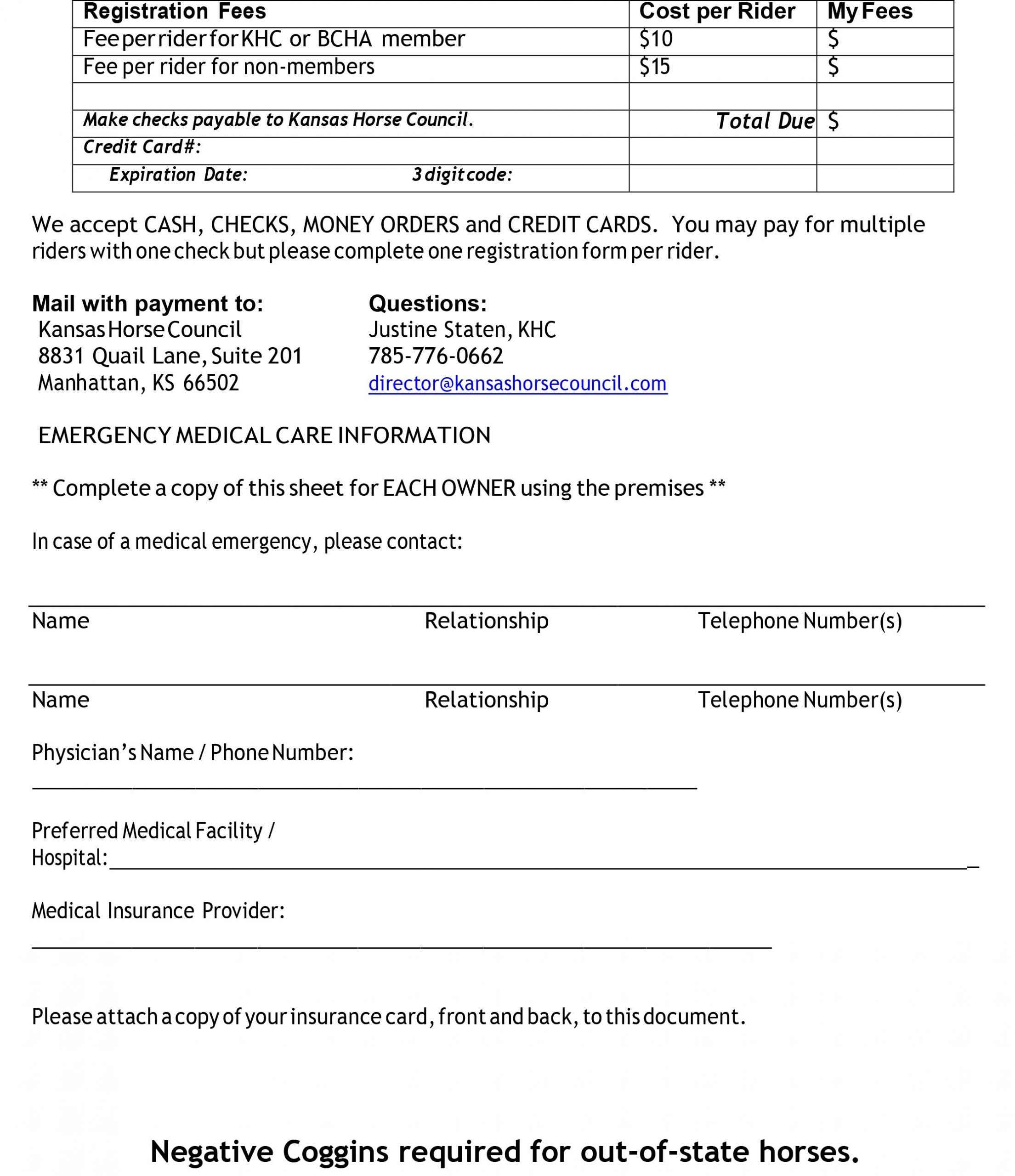 KHC Lake S Regis Form 2