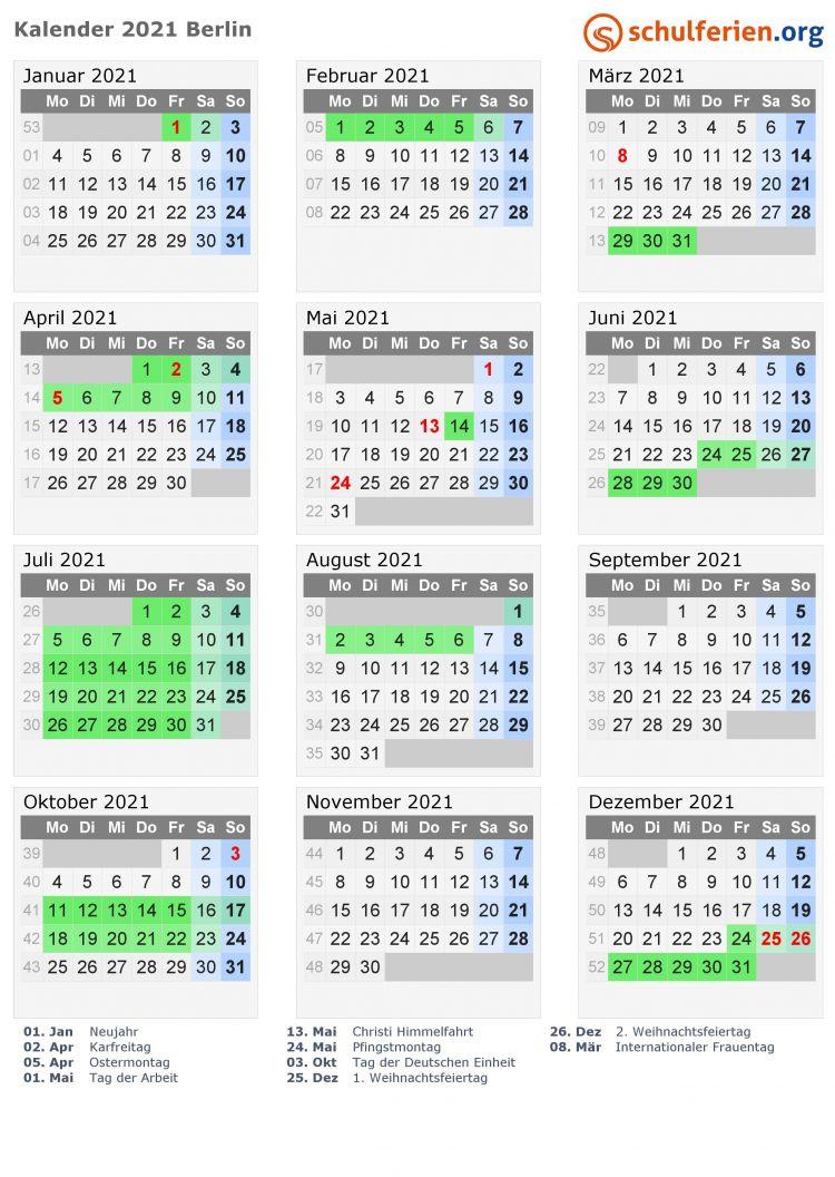 Calendario 2021 Xlsx Más Populares Kalender 2021 Ferien Berlin Feiertage