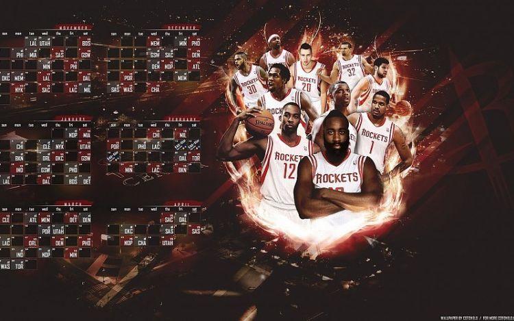 Astros Calendario Más Arriba-a-fecha Descargar Houston Rockets 2014 2015 Plantilla