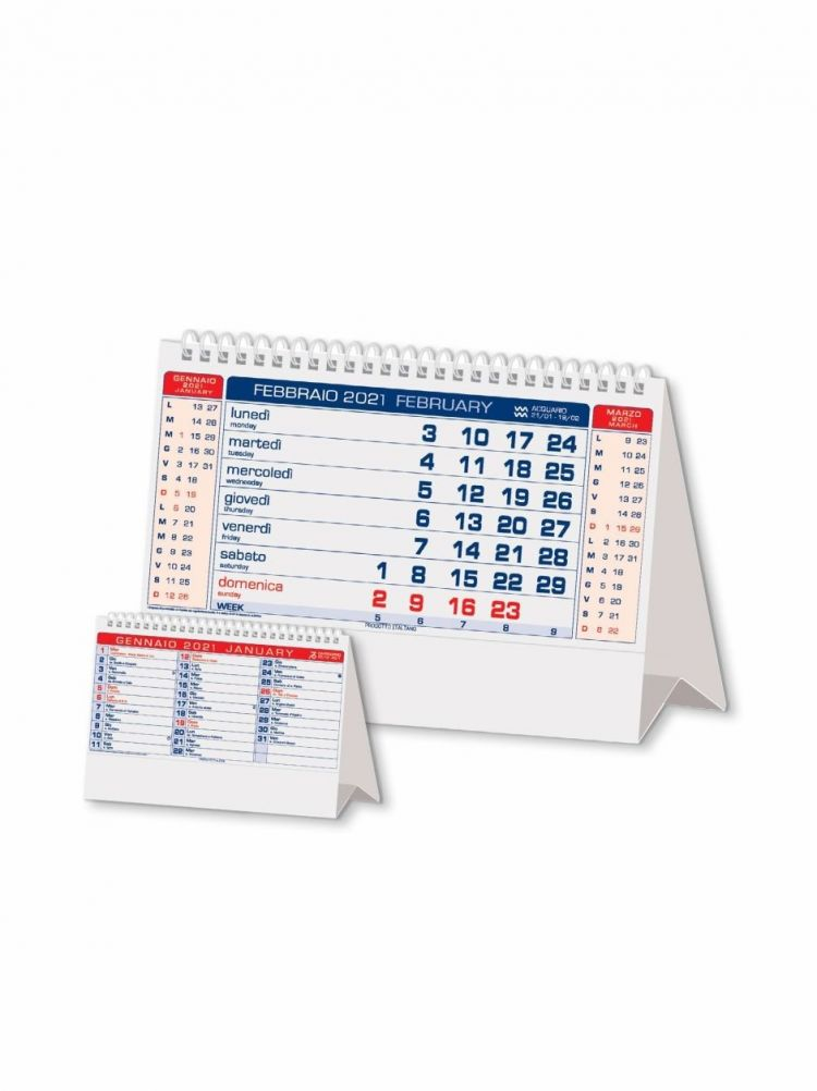 Caledari Recientes Calendari Da Tavolo Basic Cm 19x14 2