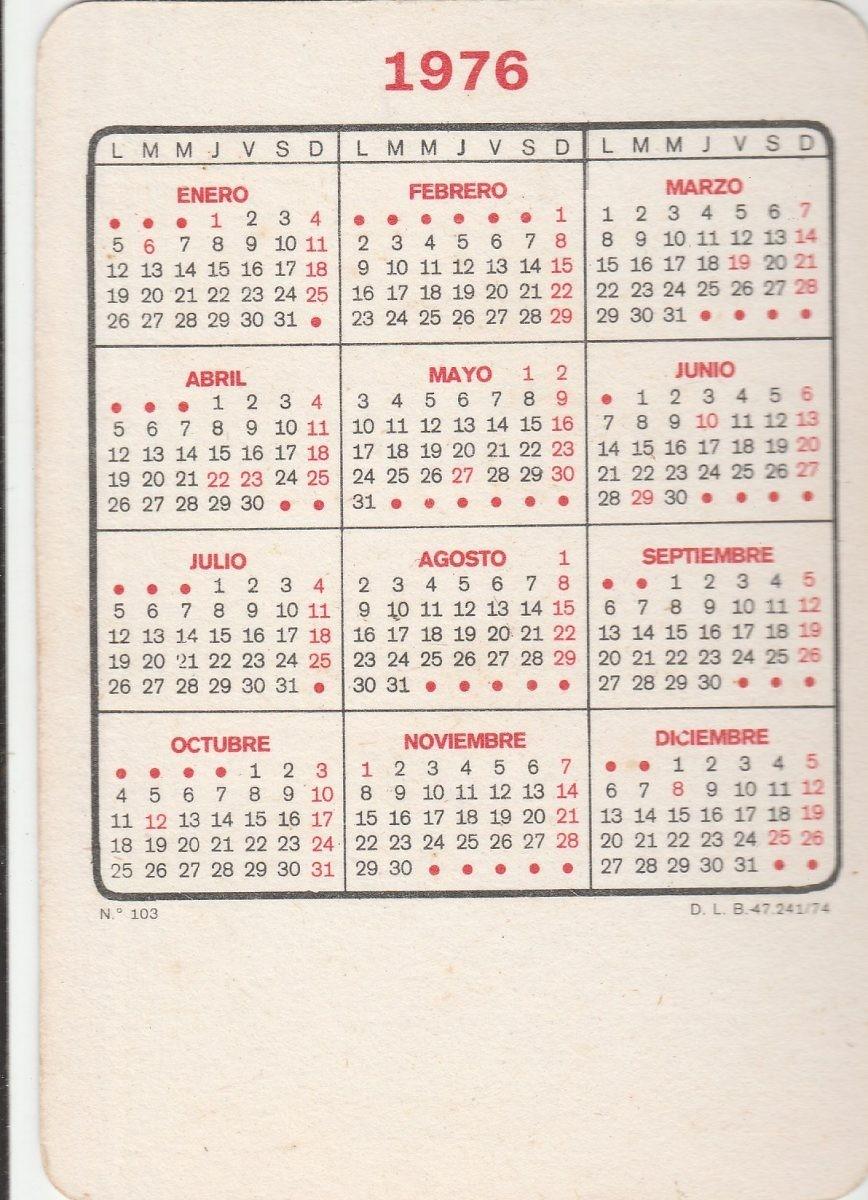 MLB calendario bolso 1976 imagem mulher semi nua f3 JM